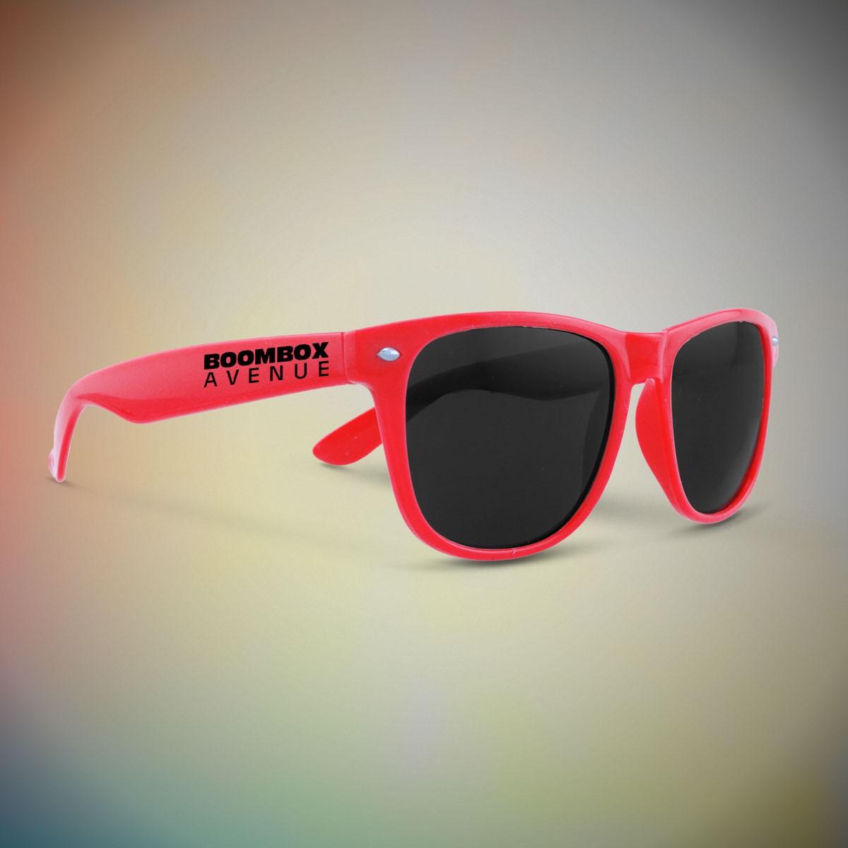 Premium Red Classic Retro Sunglasses