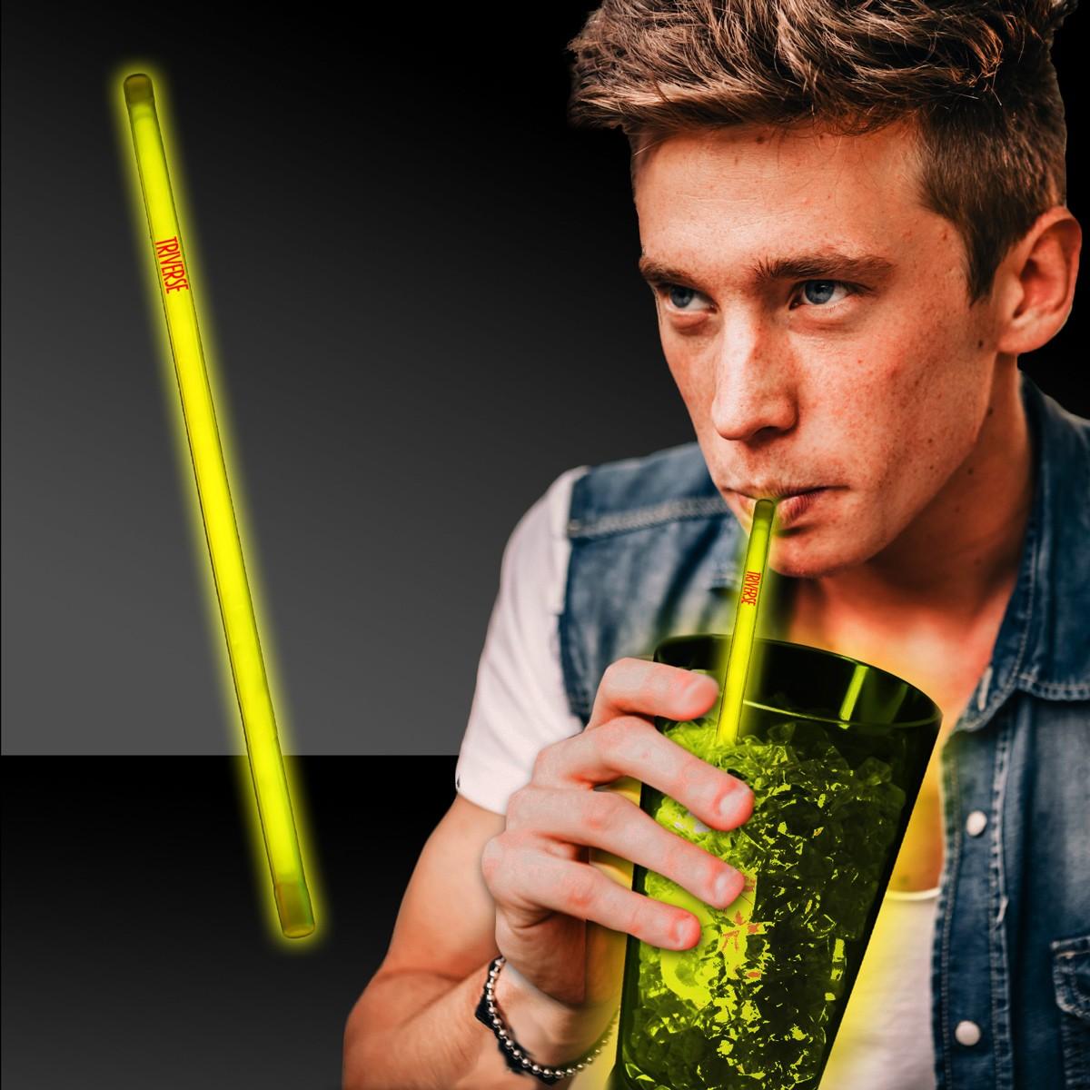 Yellow Supreme Glow 9 Inch Straws