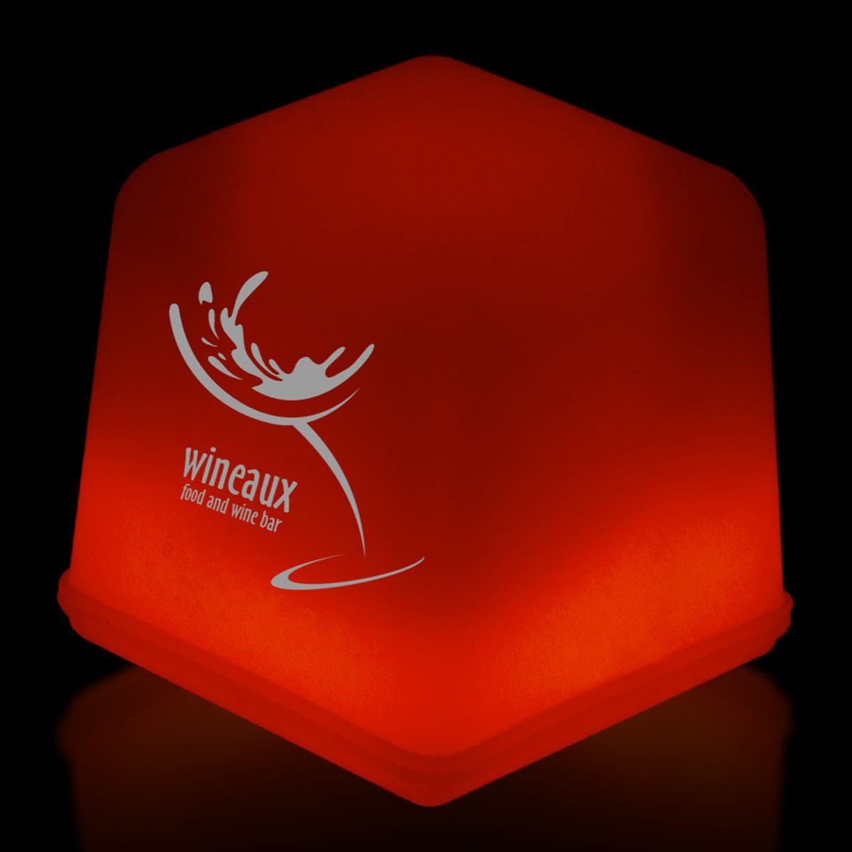 "1"" Red Glowing Ice Cubes"