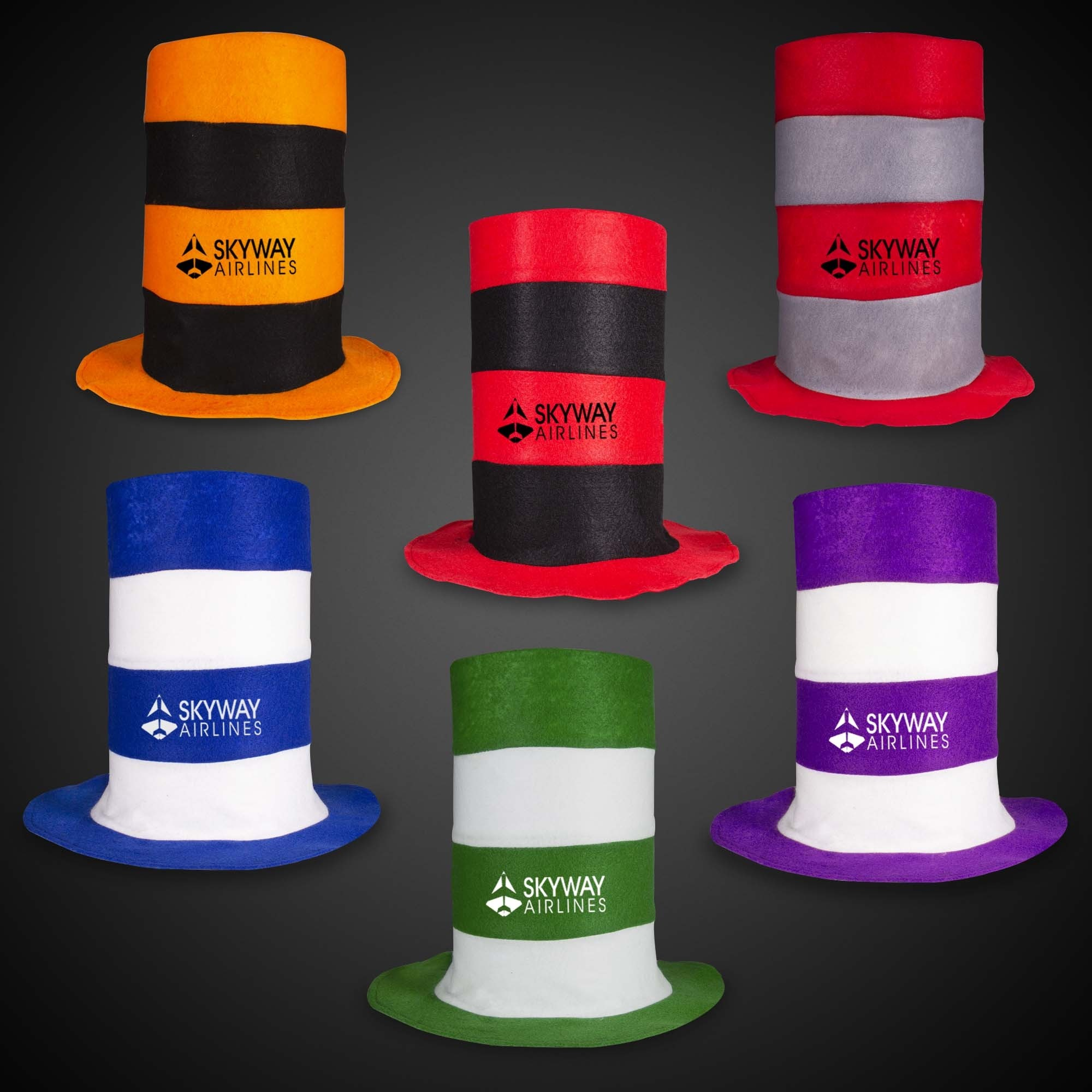 Assorted Color Stove Pipe Hats