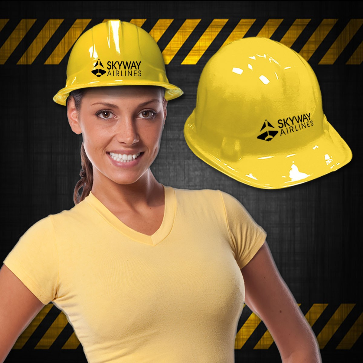 Yellow Plastic Construction Hat