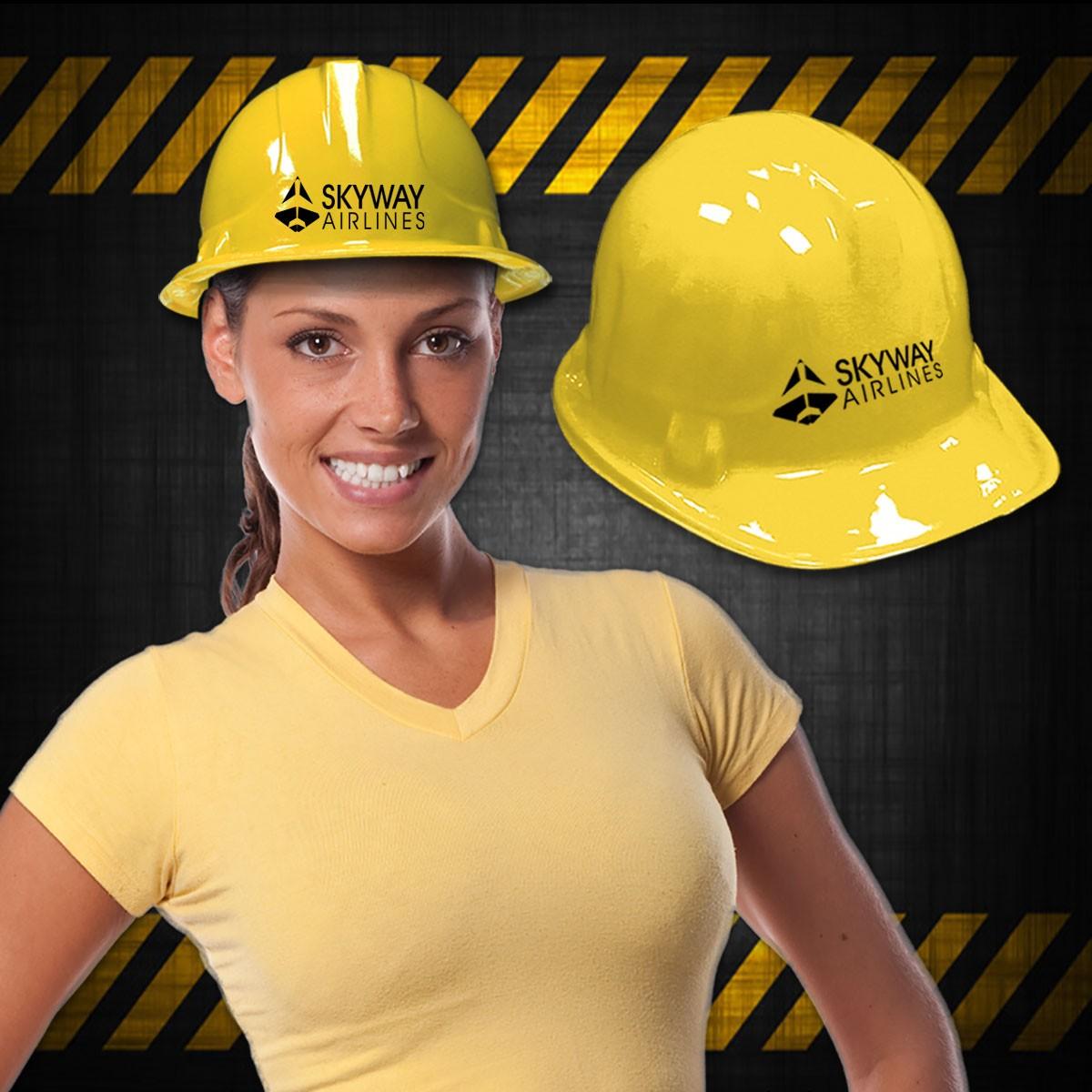 Yellow Plastic Construction Hat