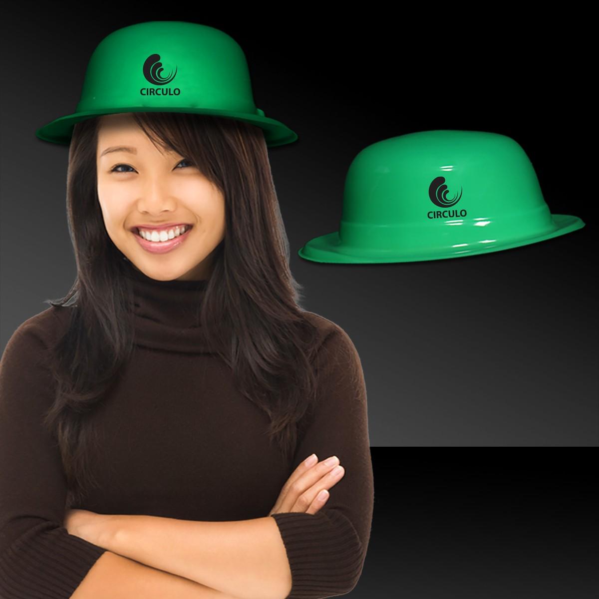 Green Plastic Derby Hat