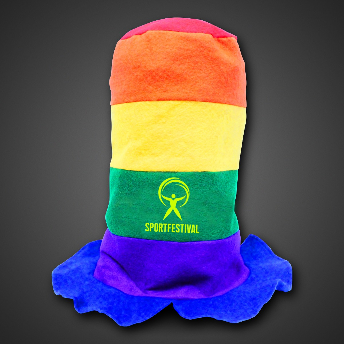 Rainbow Stove Pipe Hat