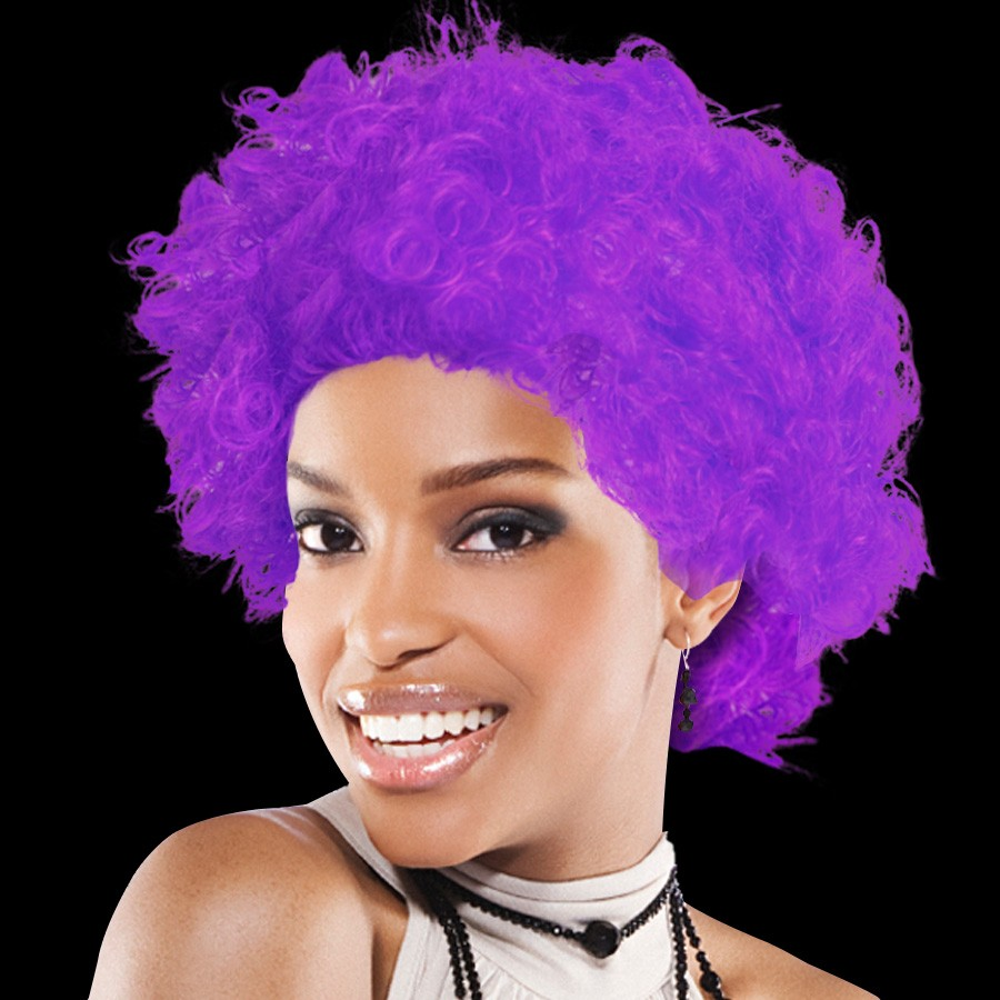 Purple Team Spirit Wigs