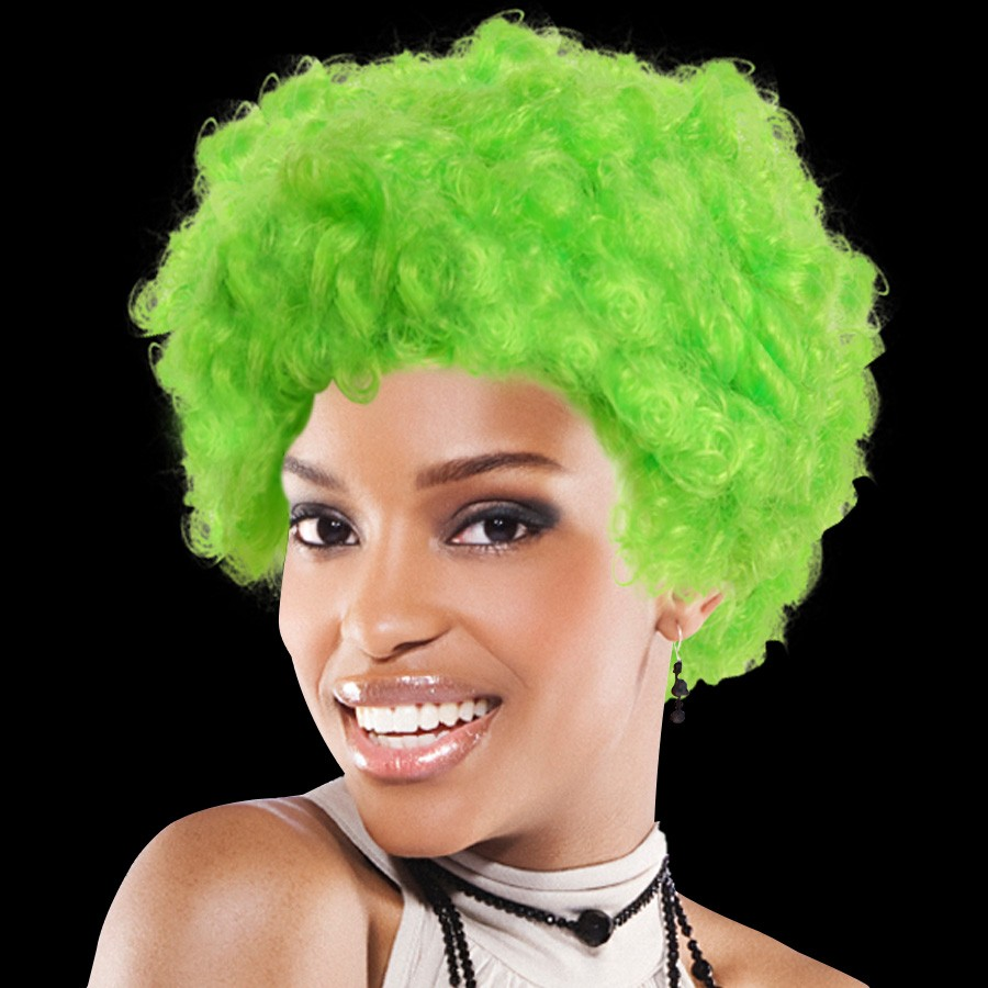 Green Team Spirit Wigs