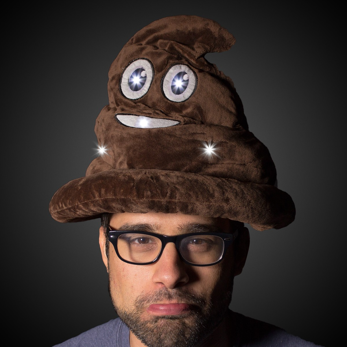 Led Poop Emojicon Hat Unimprintable Hats