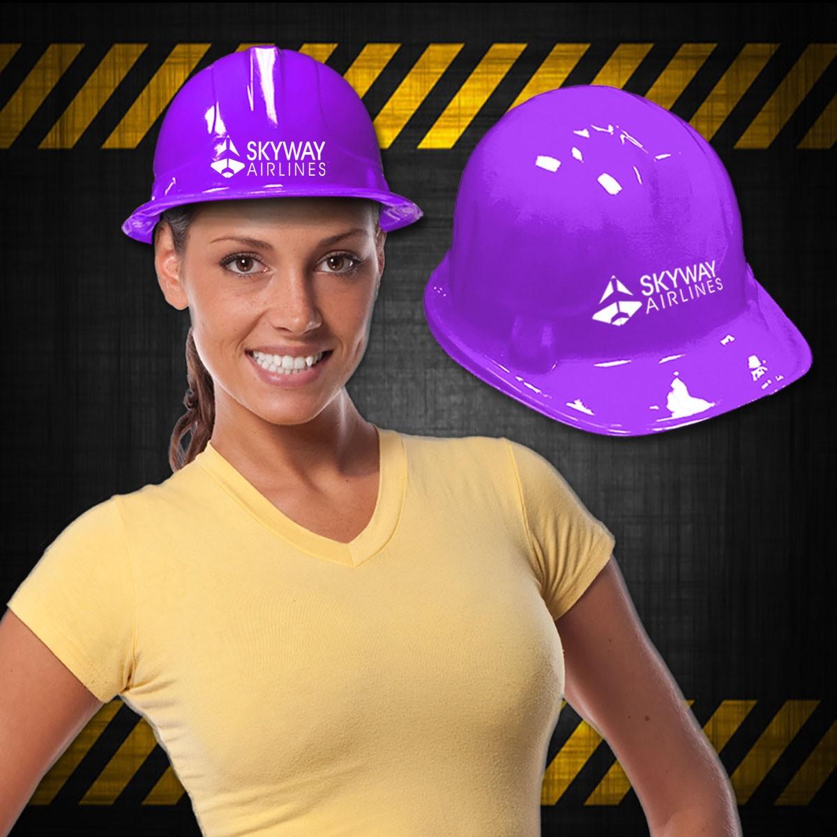 Purple Plastic Construction Hat