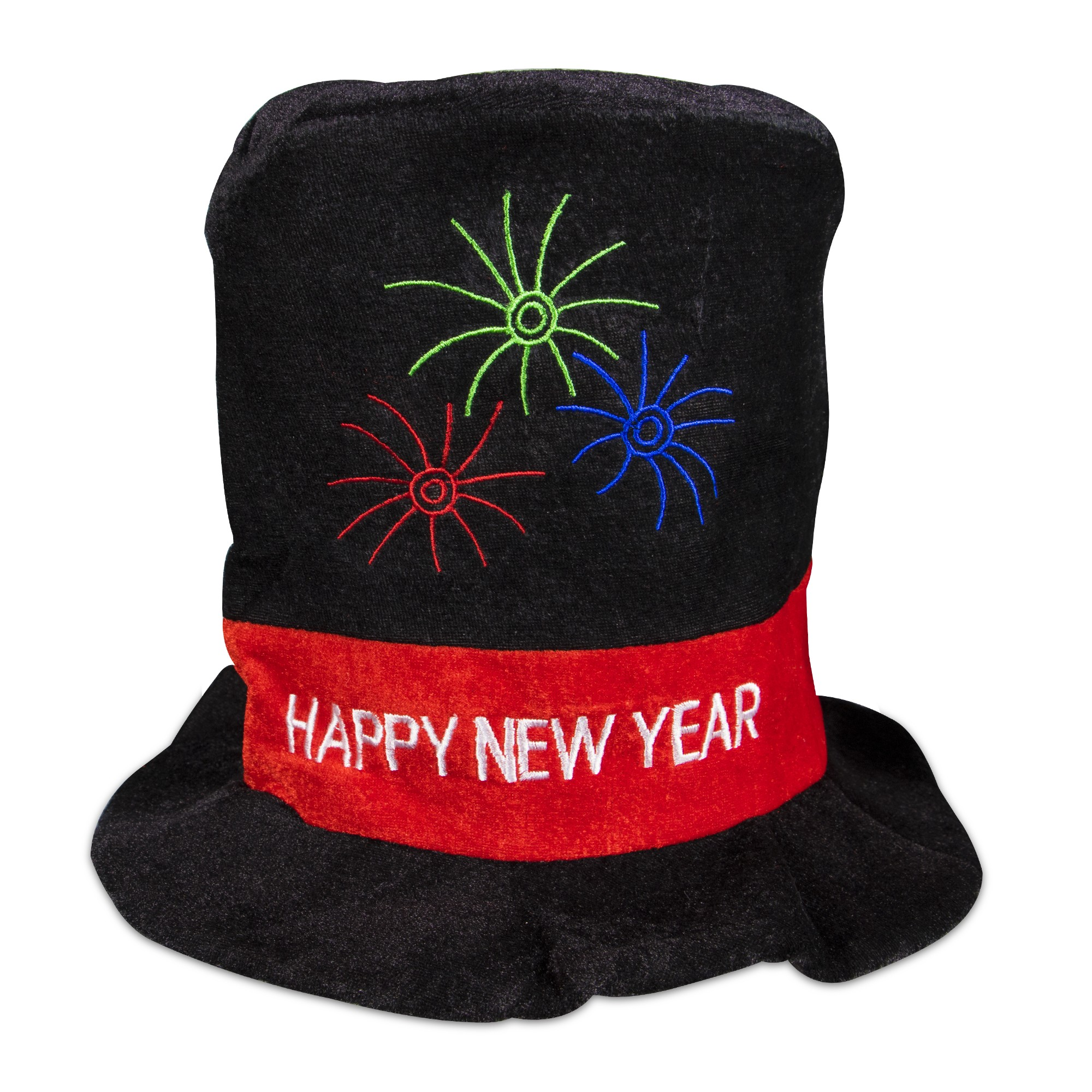 Happy New Year Velour Top Hat - 2018