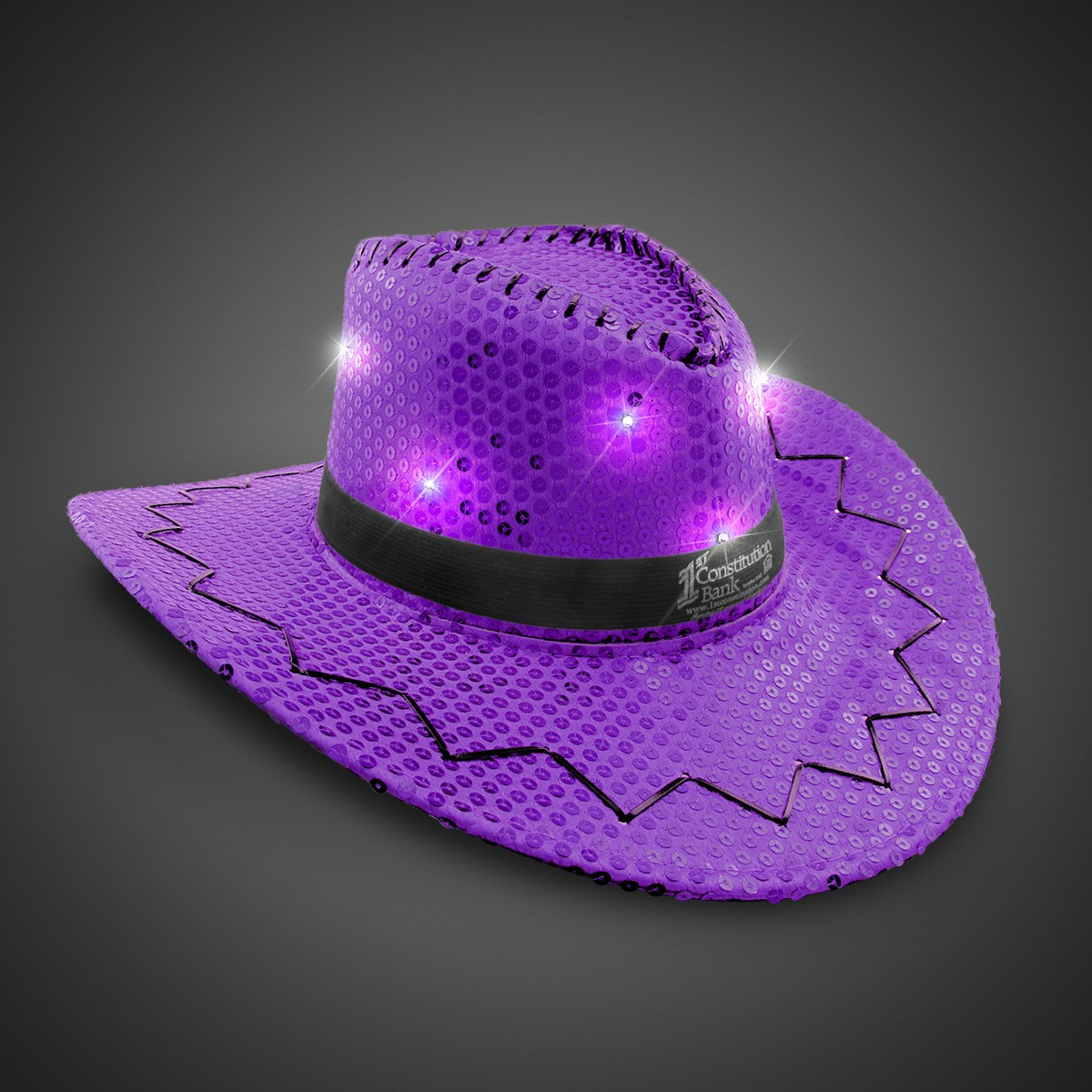 Purple Sequin LED Cowboy Hats (Imprintable Bands Available). Double click  on above image to view full picture ab2e44c8287b