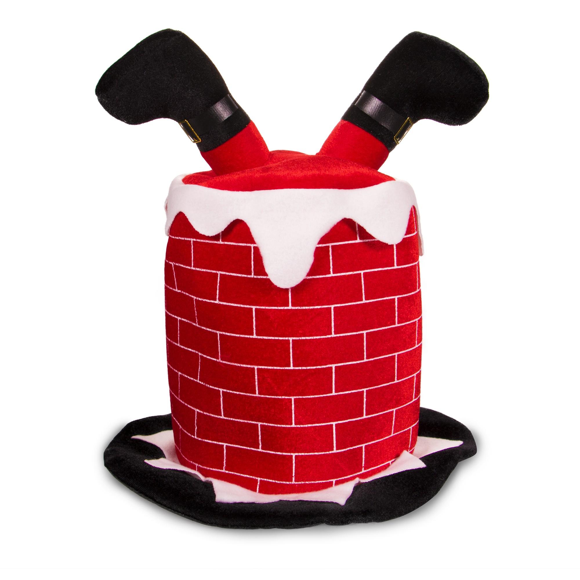 Santa In Chimney Hat Christmas Holidays Amp Events