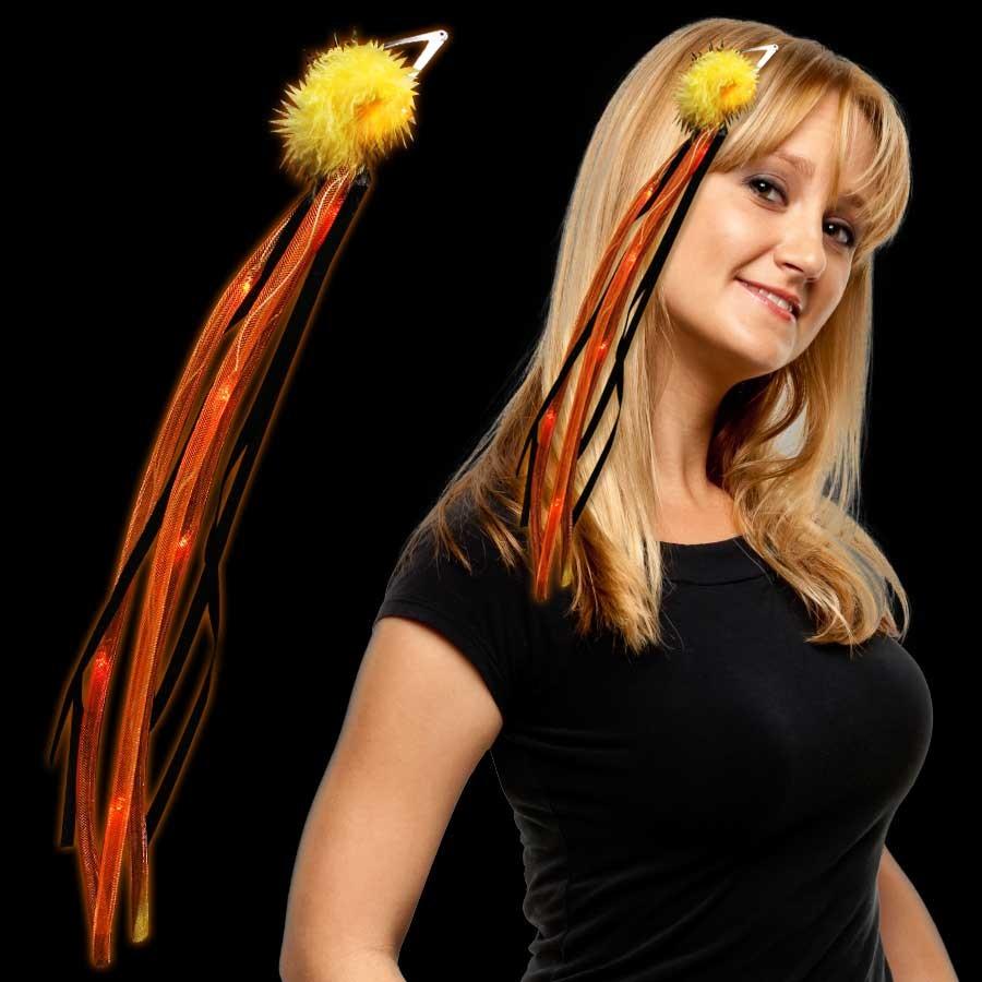 Orange Light Up Diva Ribbon Fascinator