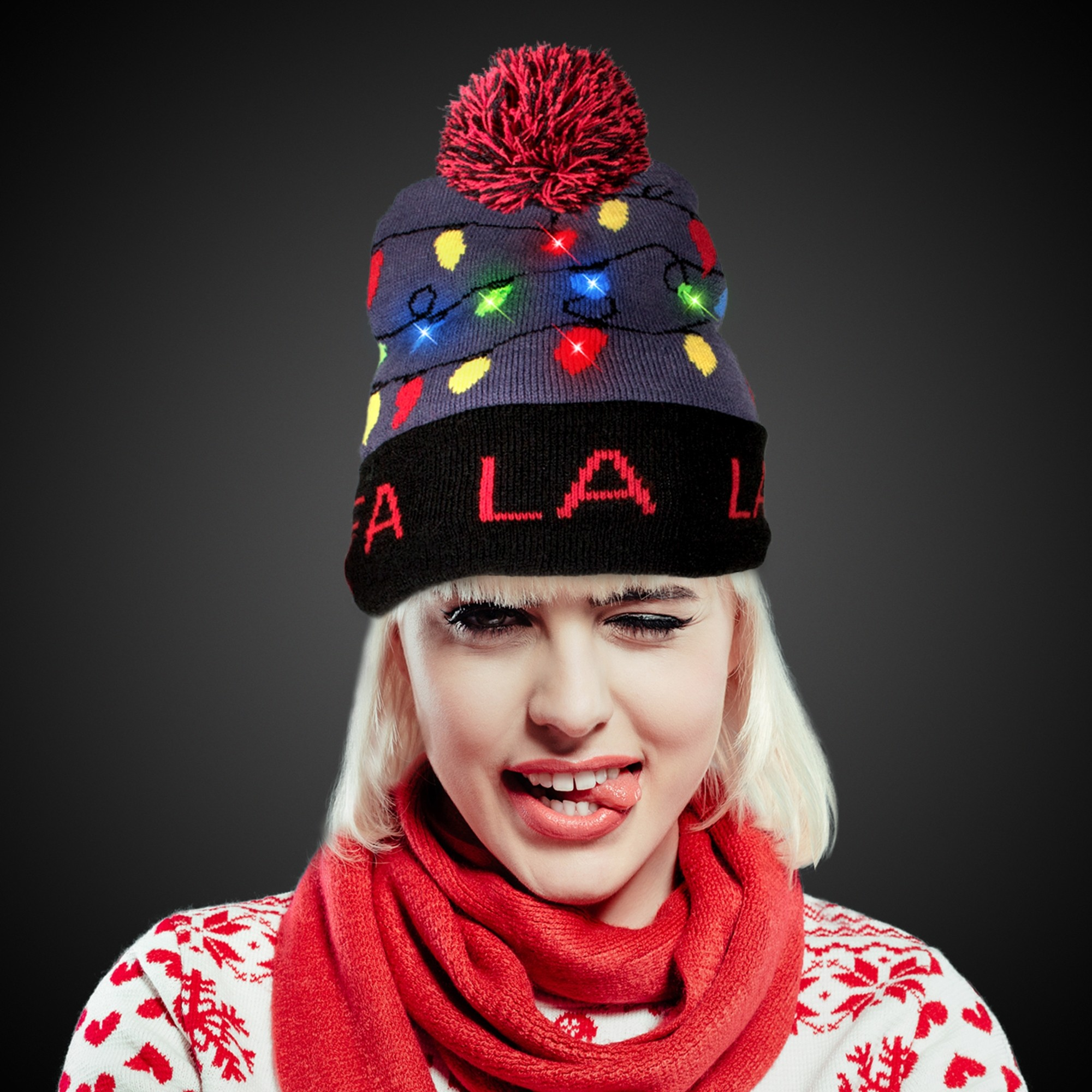 Fa La La LED Knit Hat