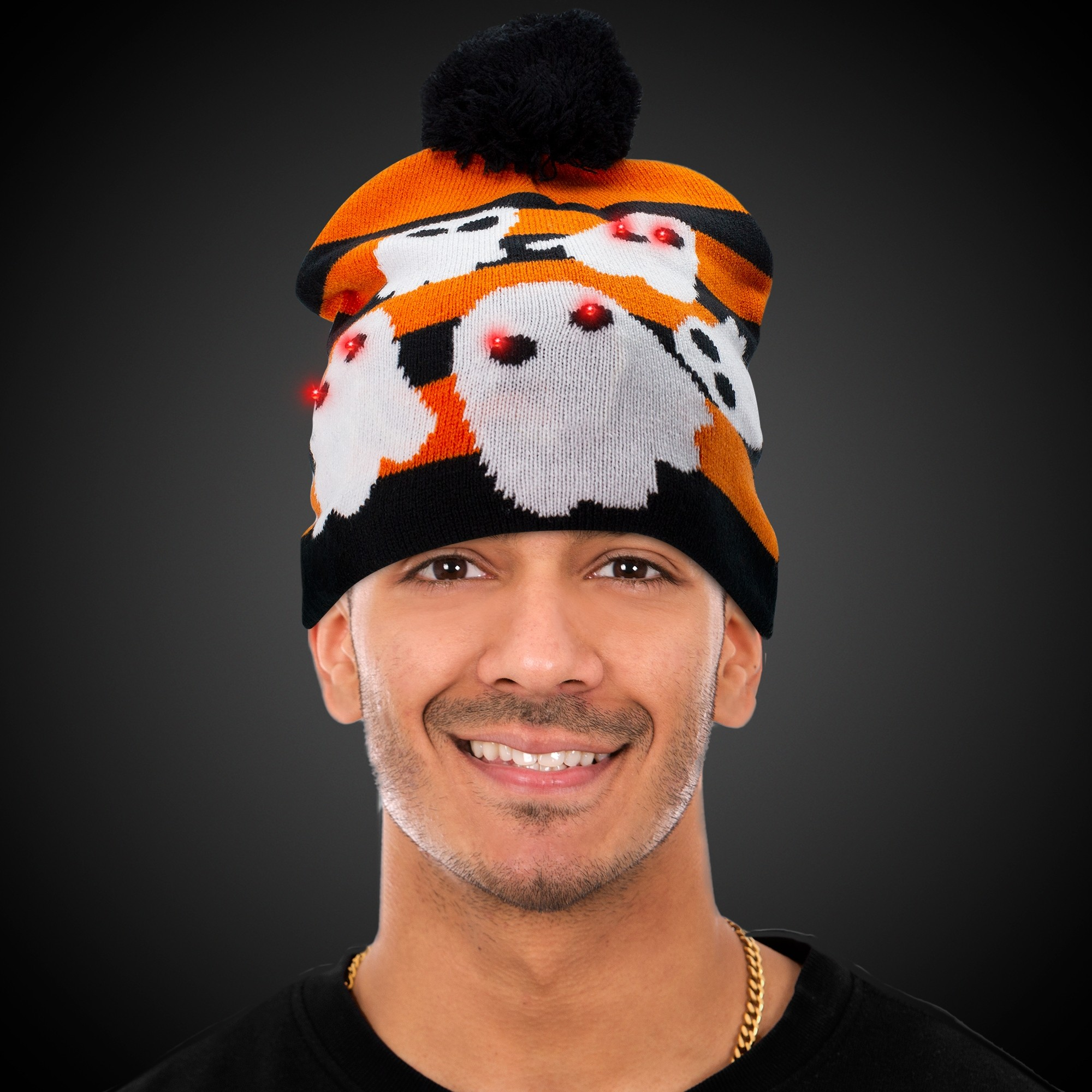 Halloween Ghosts LED Knit Hat