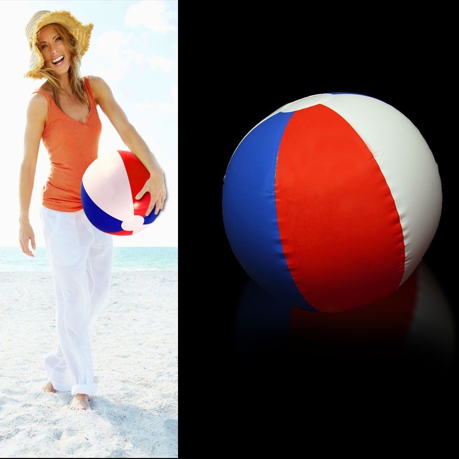 A Yellow Raft In Blue Water Quotes: Inflatable 16 Inch Patriotic Beach Ball