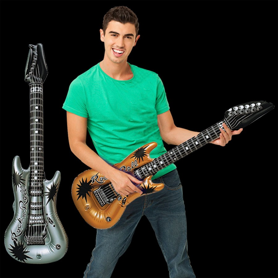 Gold & Silver Inflatable 42 Inch Guitars