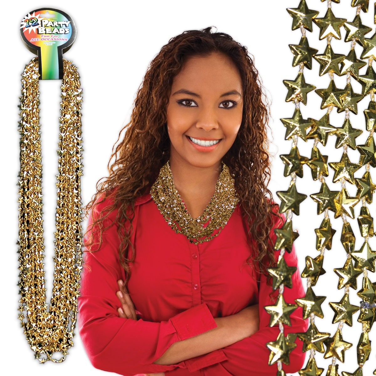 Gold Star Beads