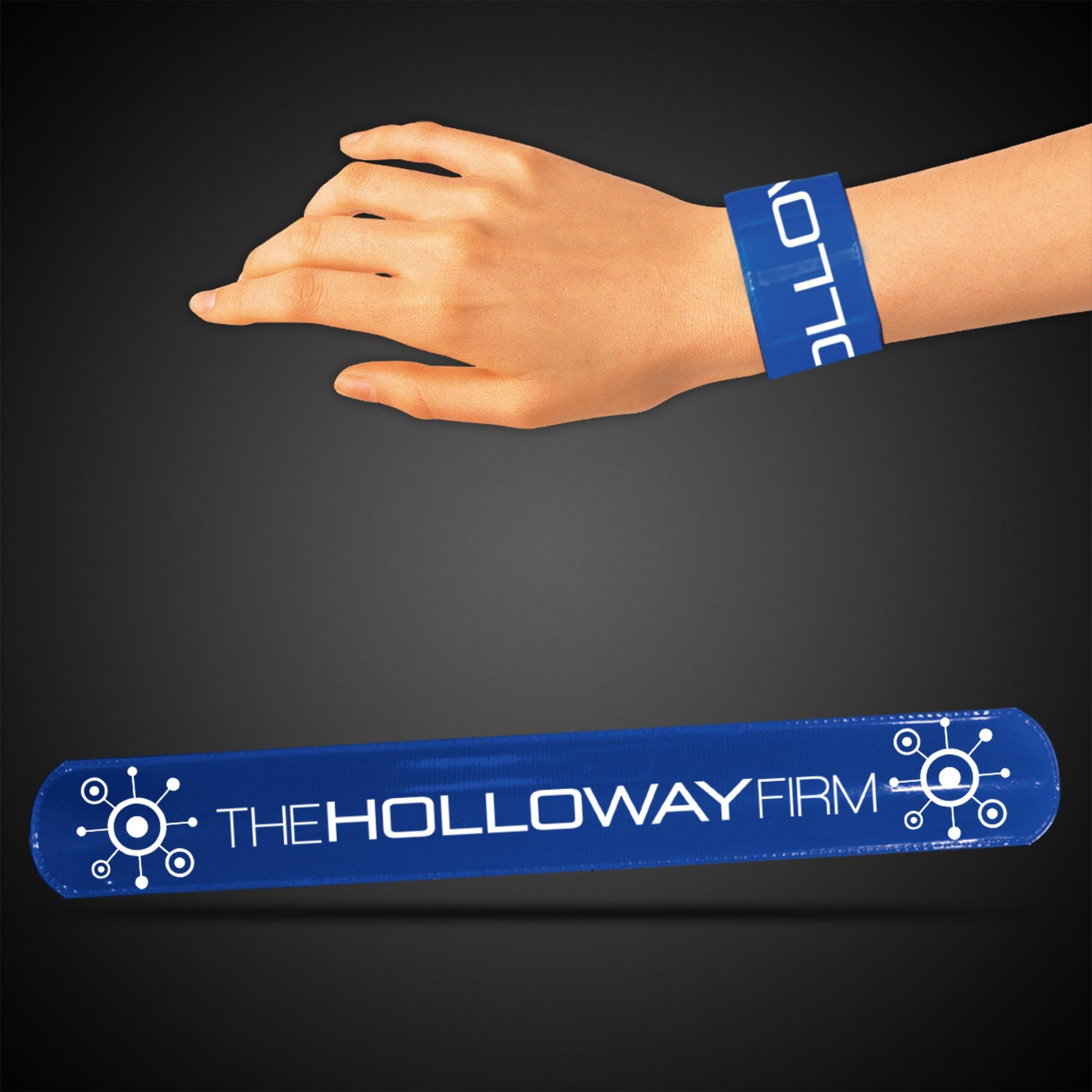 """8 3/4"""" Blue Slap Bracelets"""