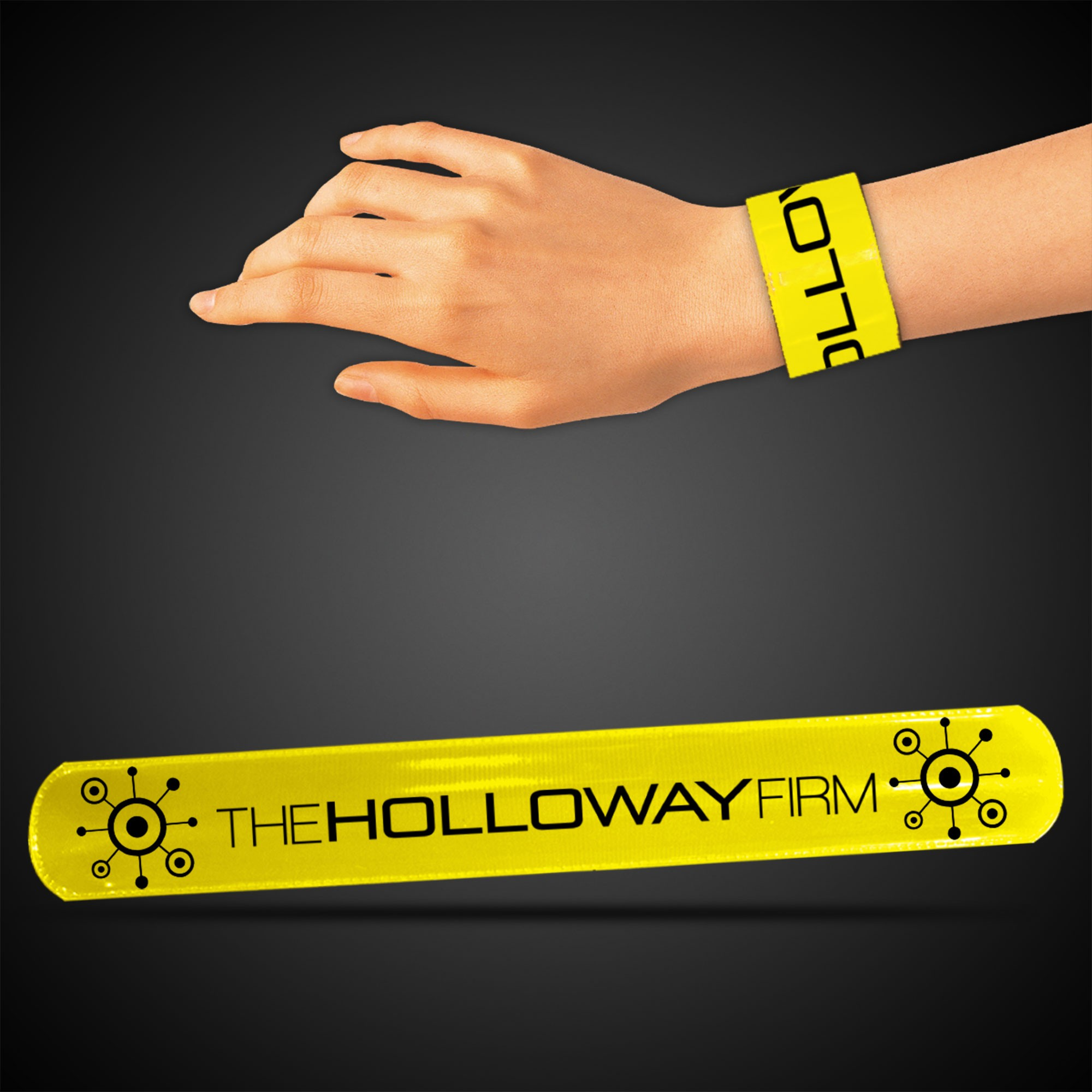 "8 3/4"" Yellow Slap Bracelets"