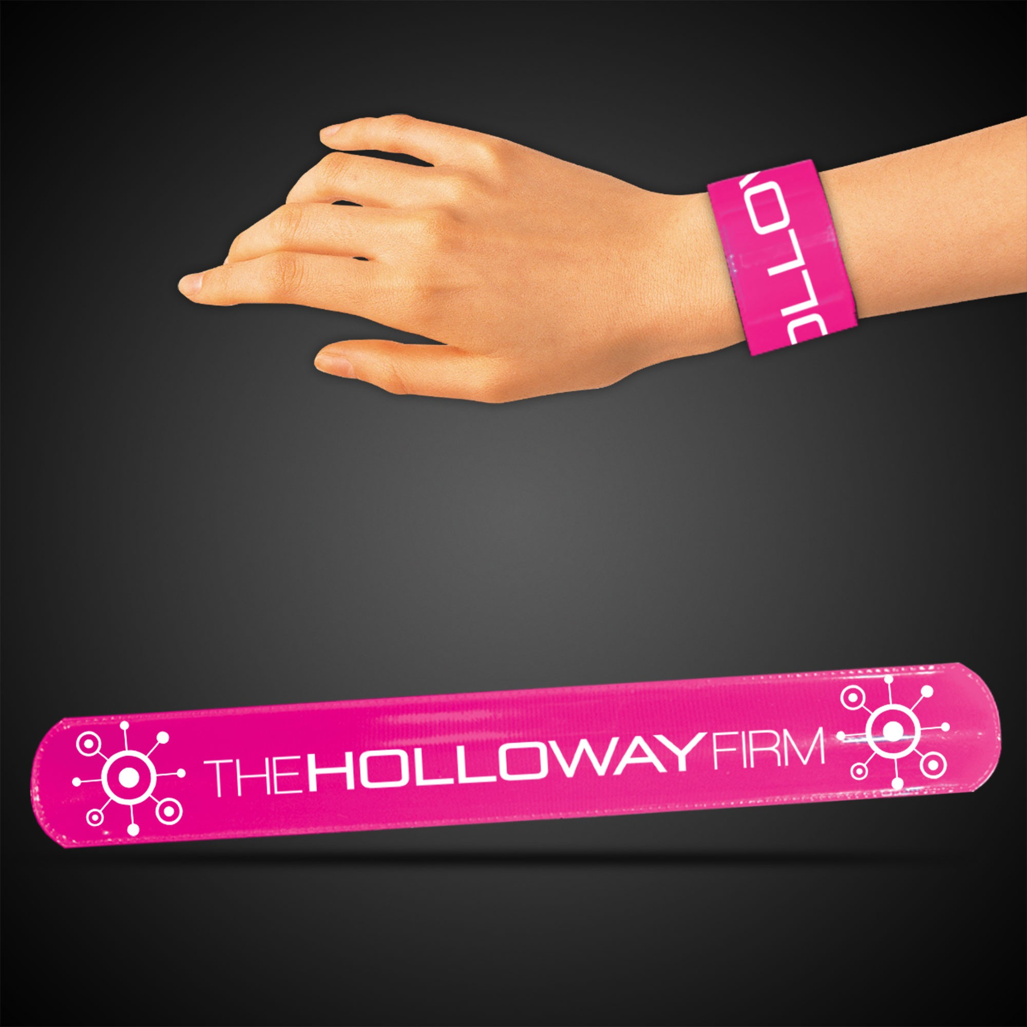 """8 3/4"""" Pink Slap Bracelets"""