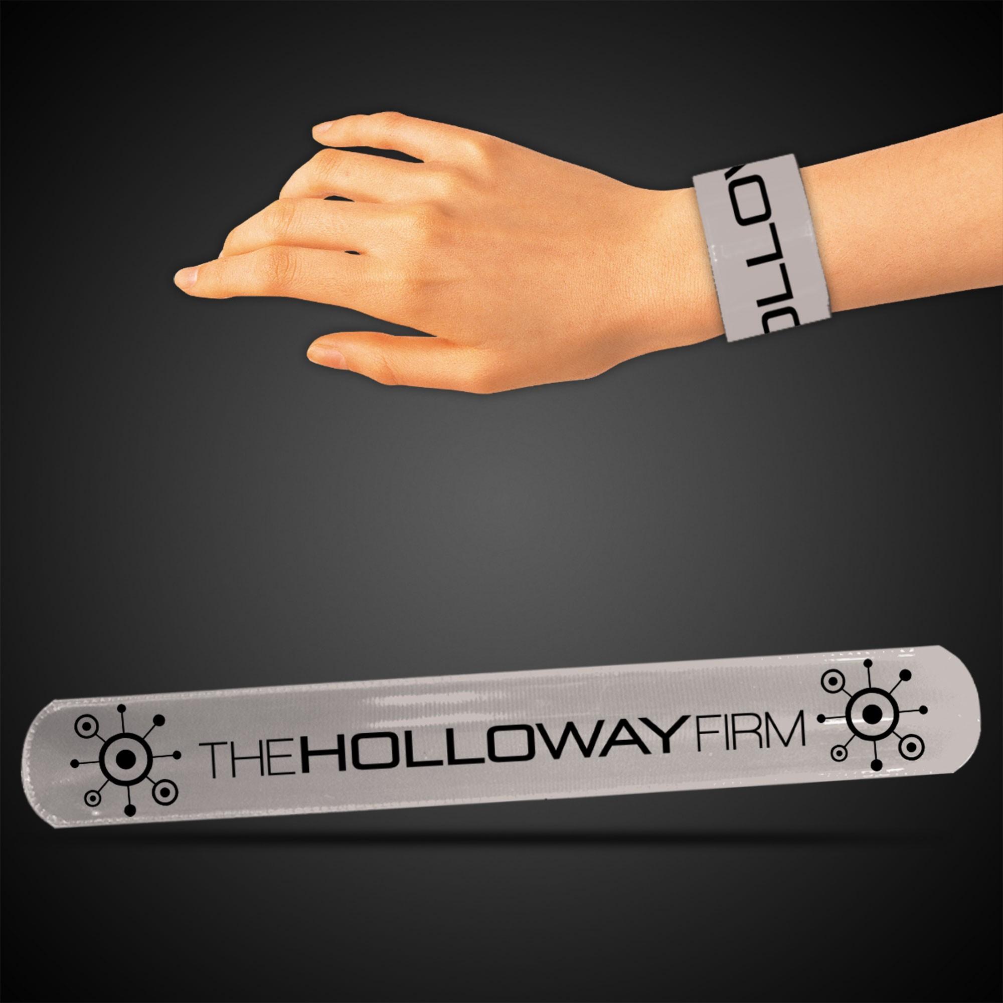 """8 3/4"""" Silver Slap Bracelets"""