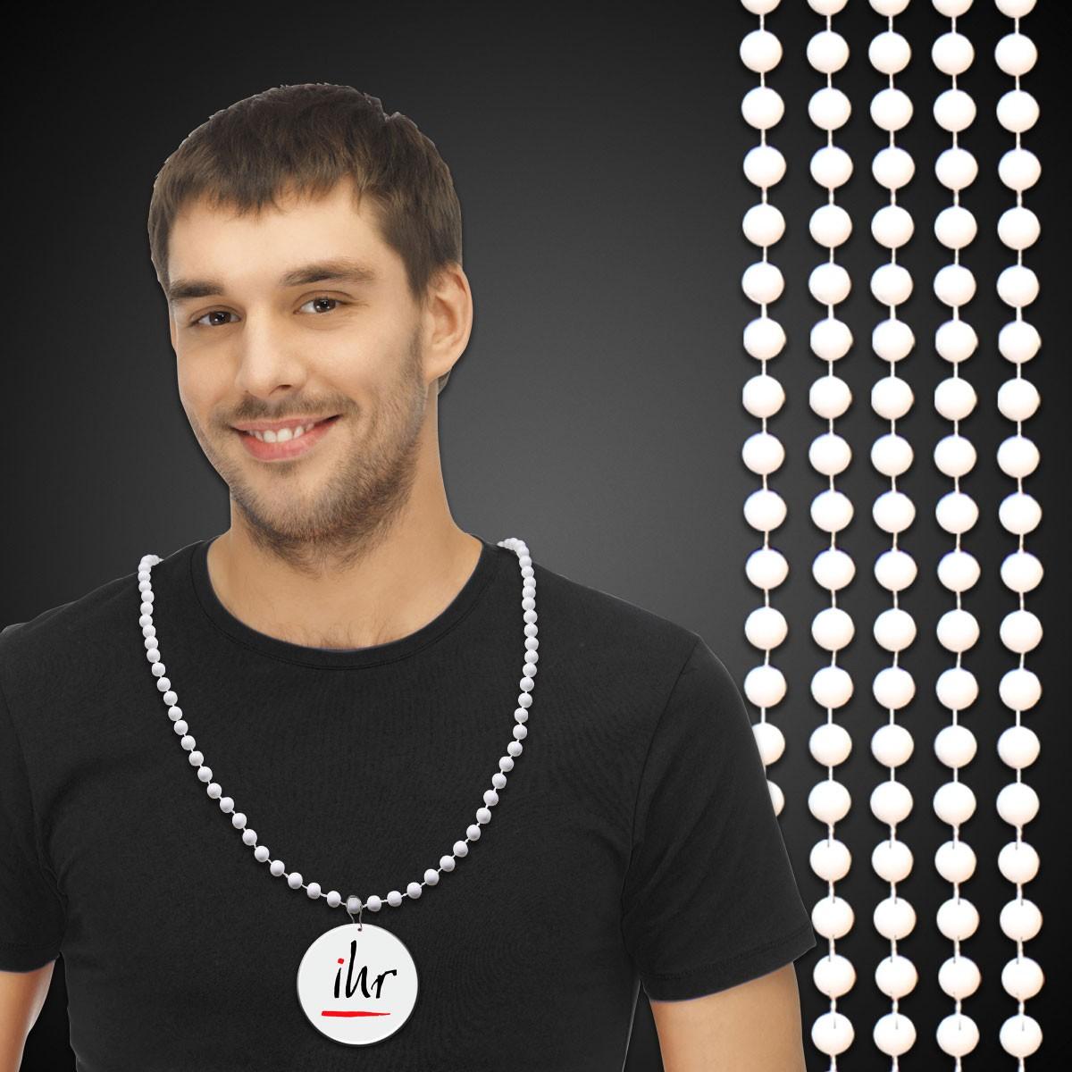 White Mardi Gras Beads