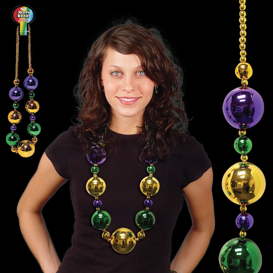 Mardi Gras Jumbo Bead Necklace