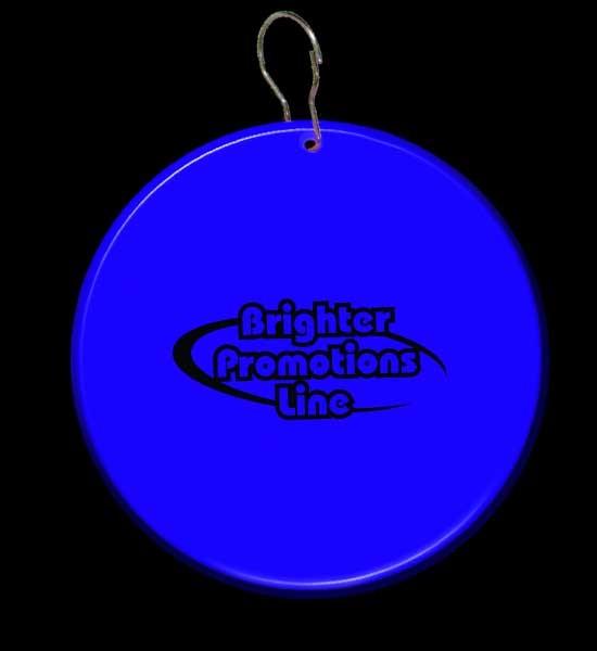 Blue Circle Plastic Medallion Badges