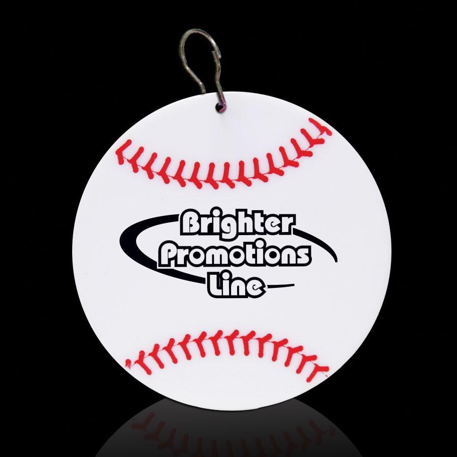Baseball Plastic Medallion Badges