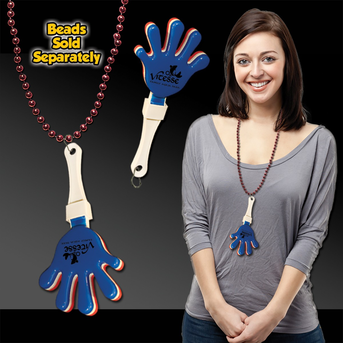 Red- White-Blue Hand Clappers w/ J - Hook