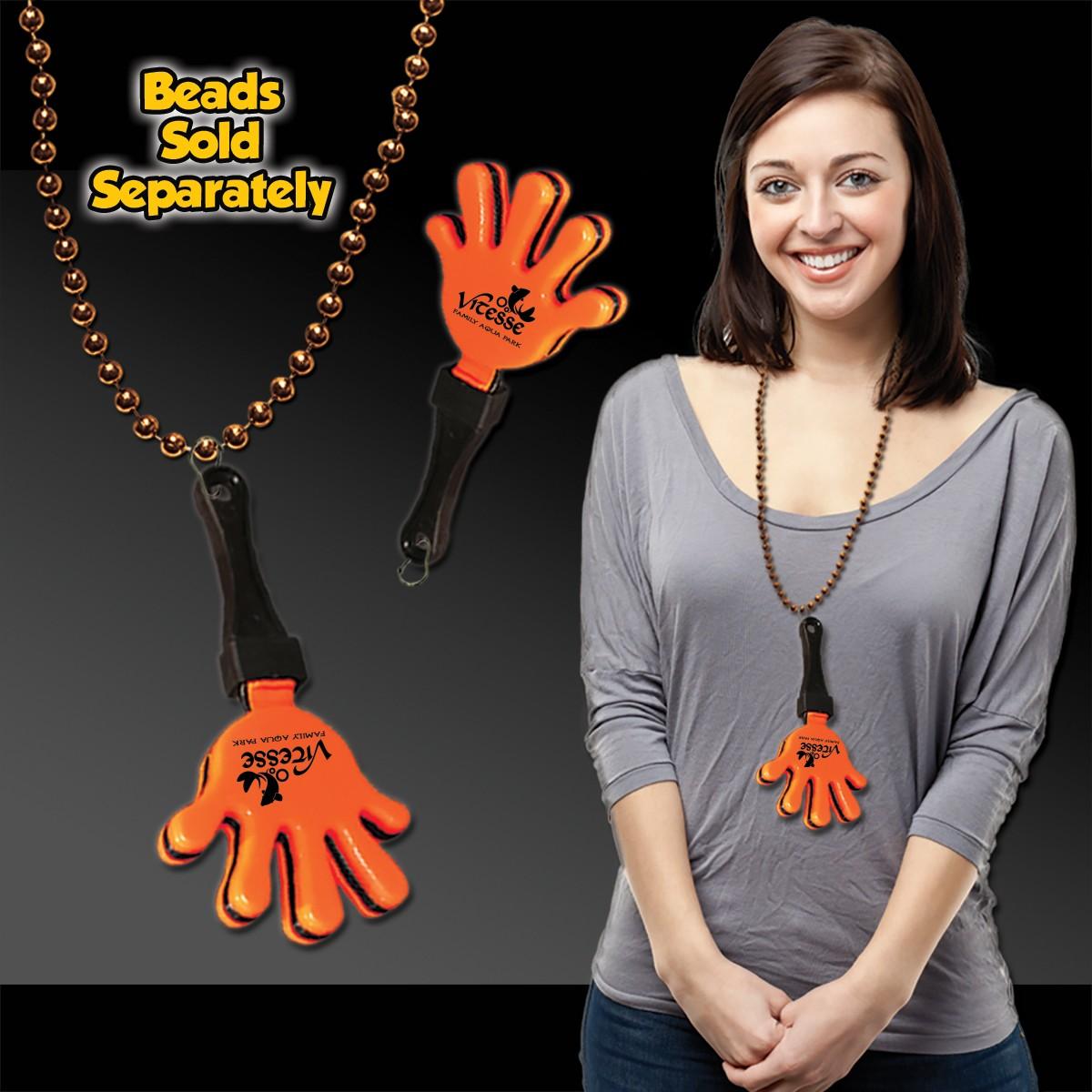 Orange & Black Hand Clappers w/ J - Hook