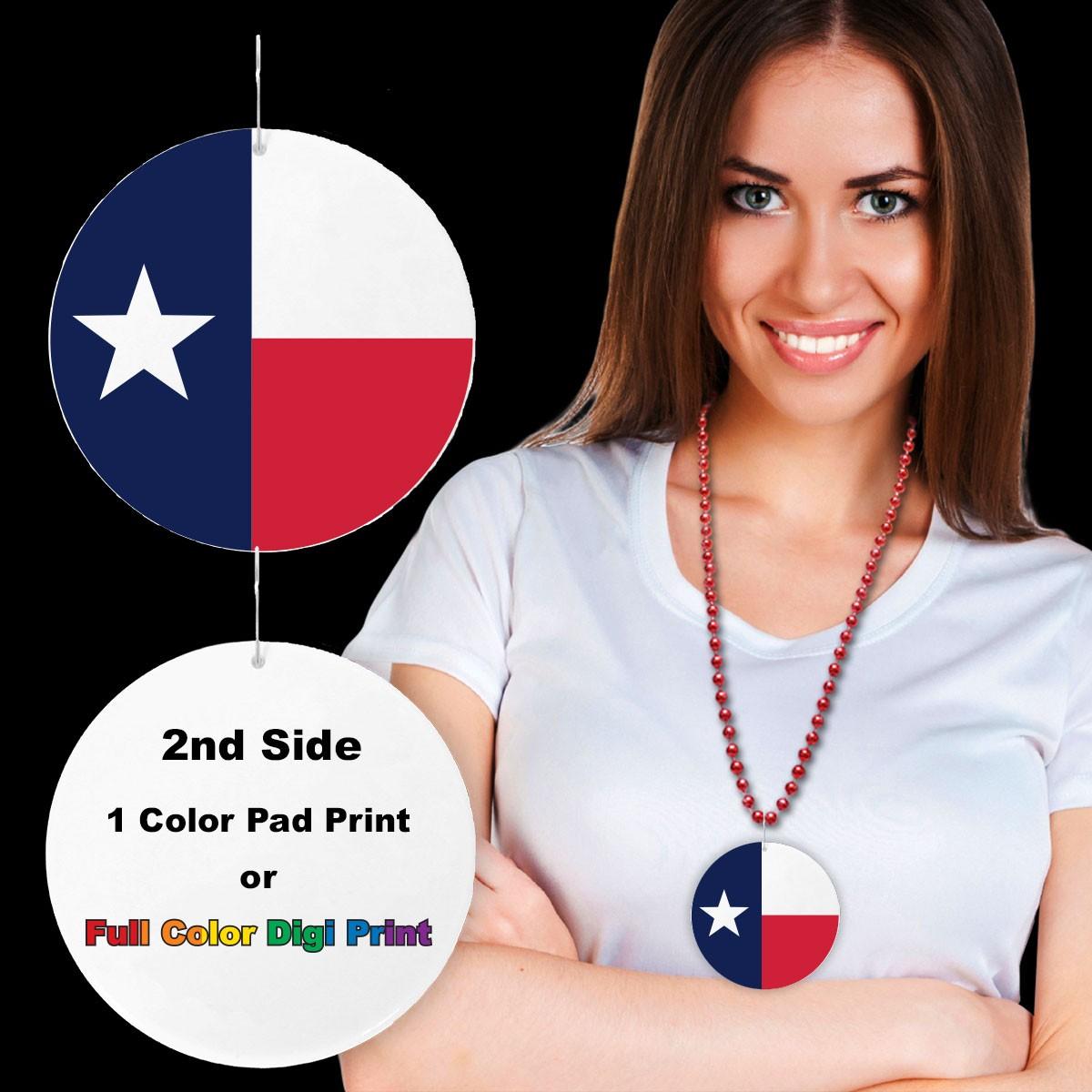 "Texas Flag Plastic Medallions<br>2 1/2""</br>"