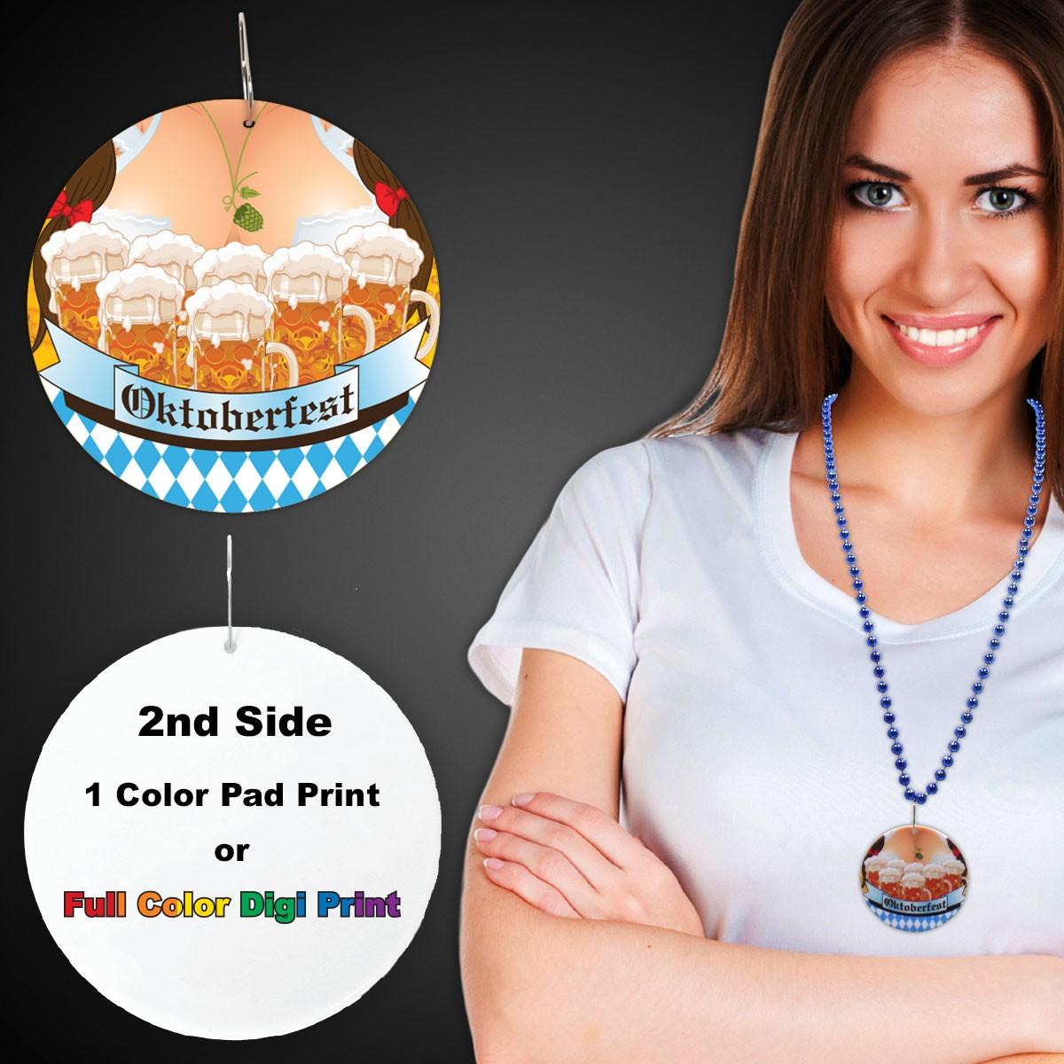 "Oktoberfest  Plastic Medallions<br>2 1/2""</br>"