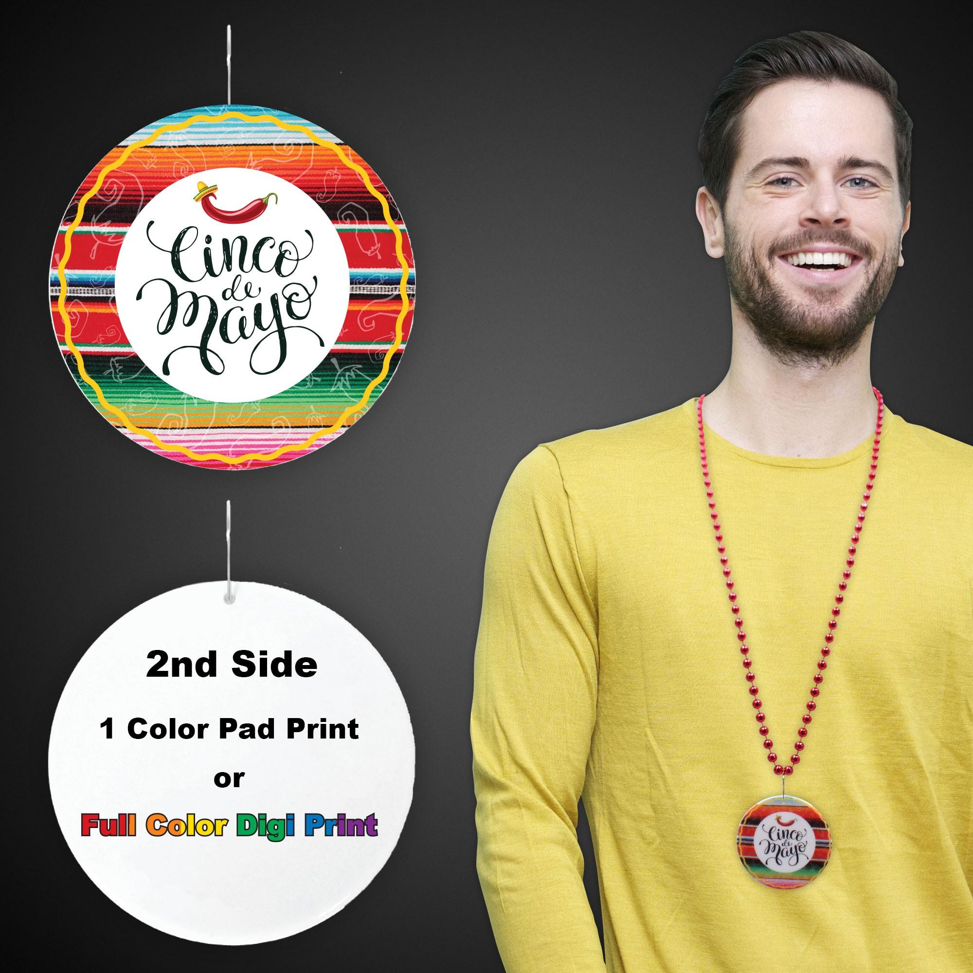 """Cinco De Mayo Plastic Medallions<br>2 1/2""""</br>"""