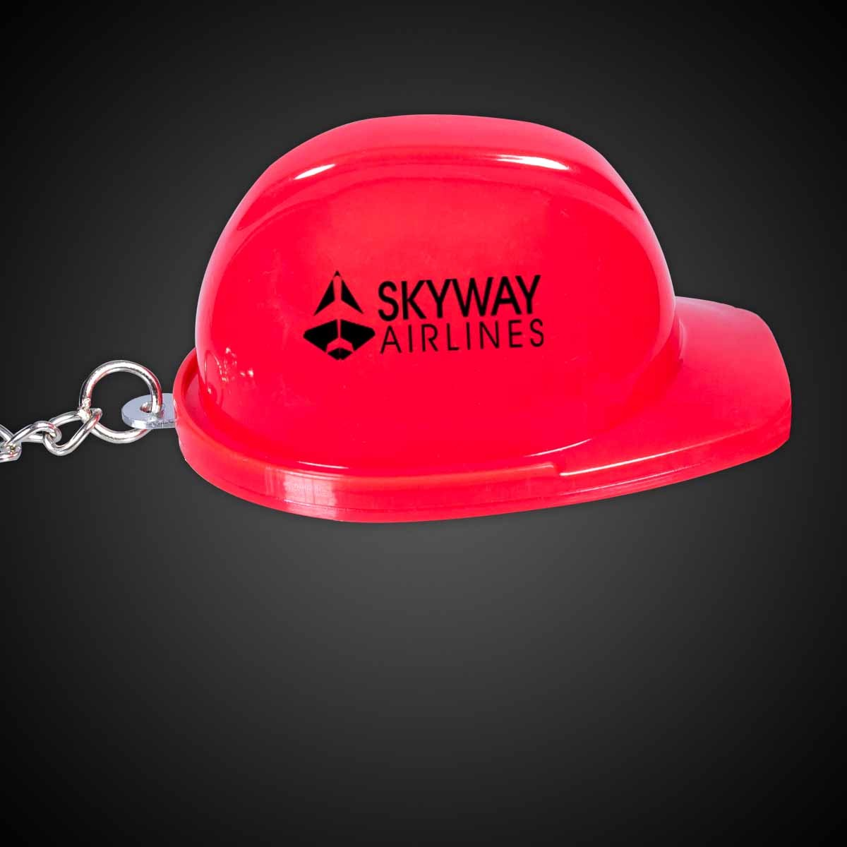 Red Plastic Construction Hat Bottle Opener Key Chains