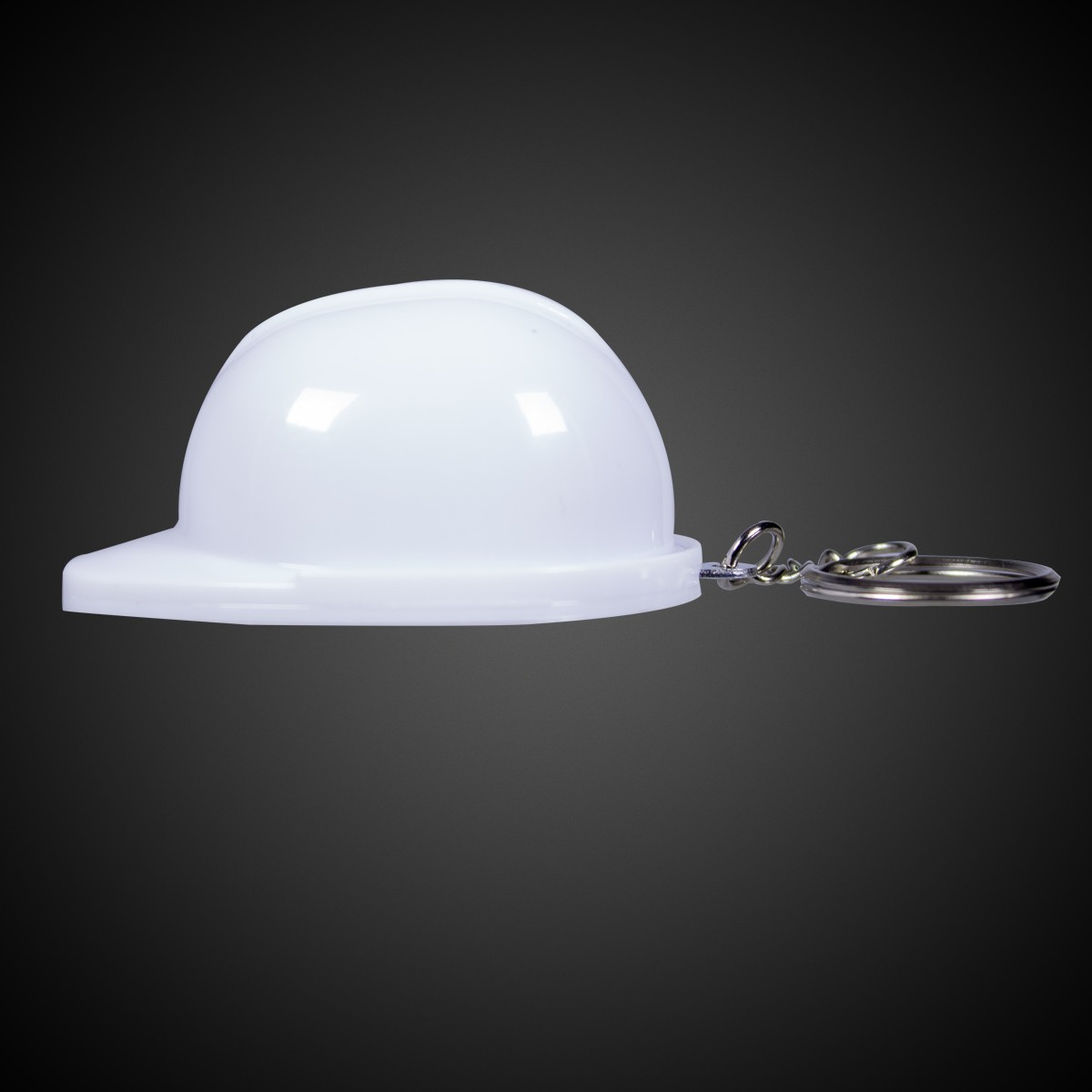 white plastic construction hat bottle opener key chains white shop by color. Black Bedroom Furniture Sets. Home Design Ideas