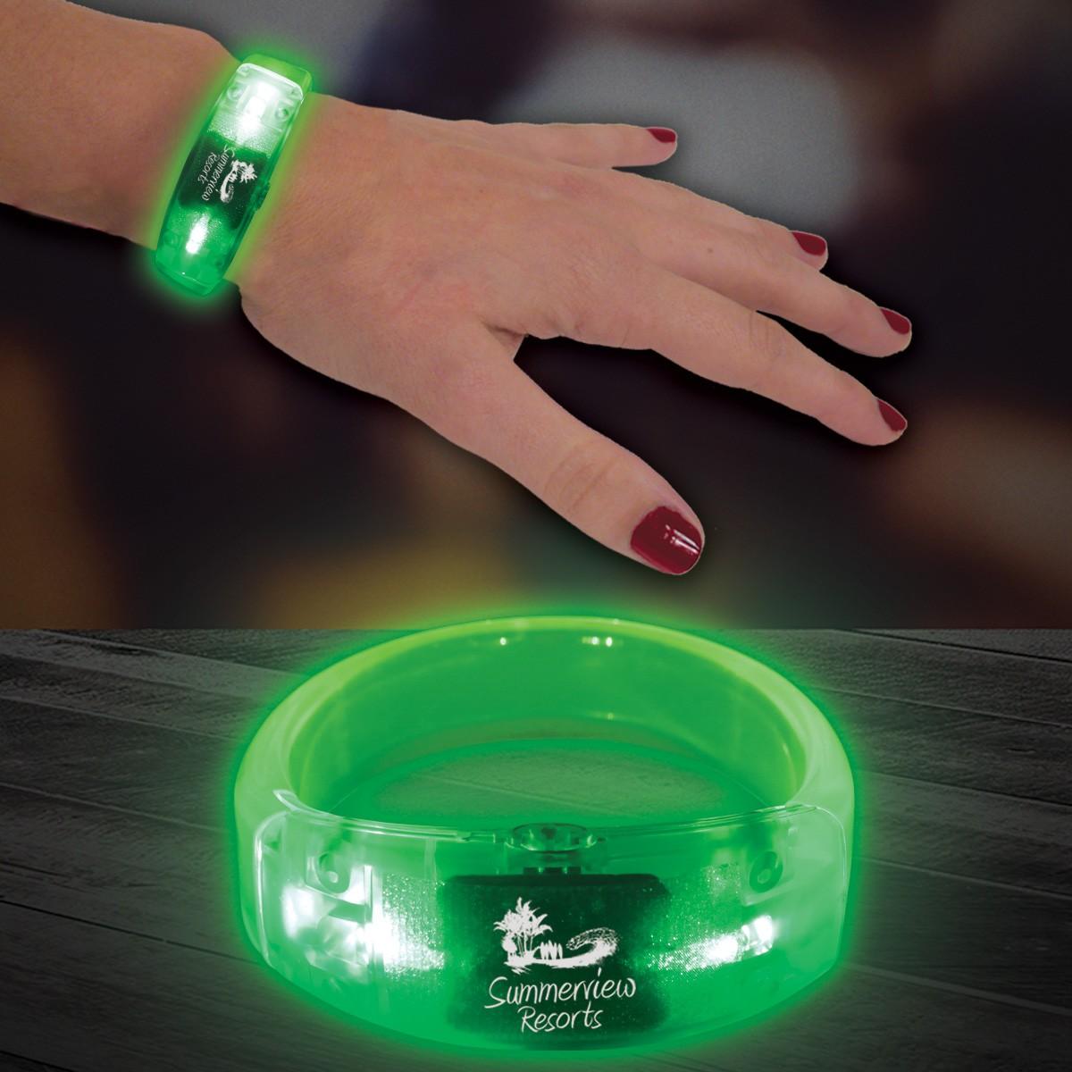 Green LED Bangle Bracelet