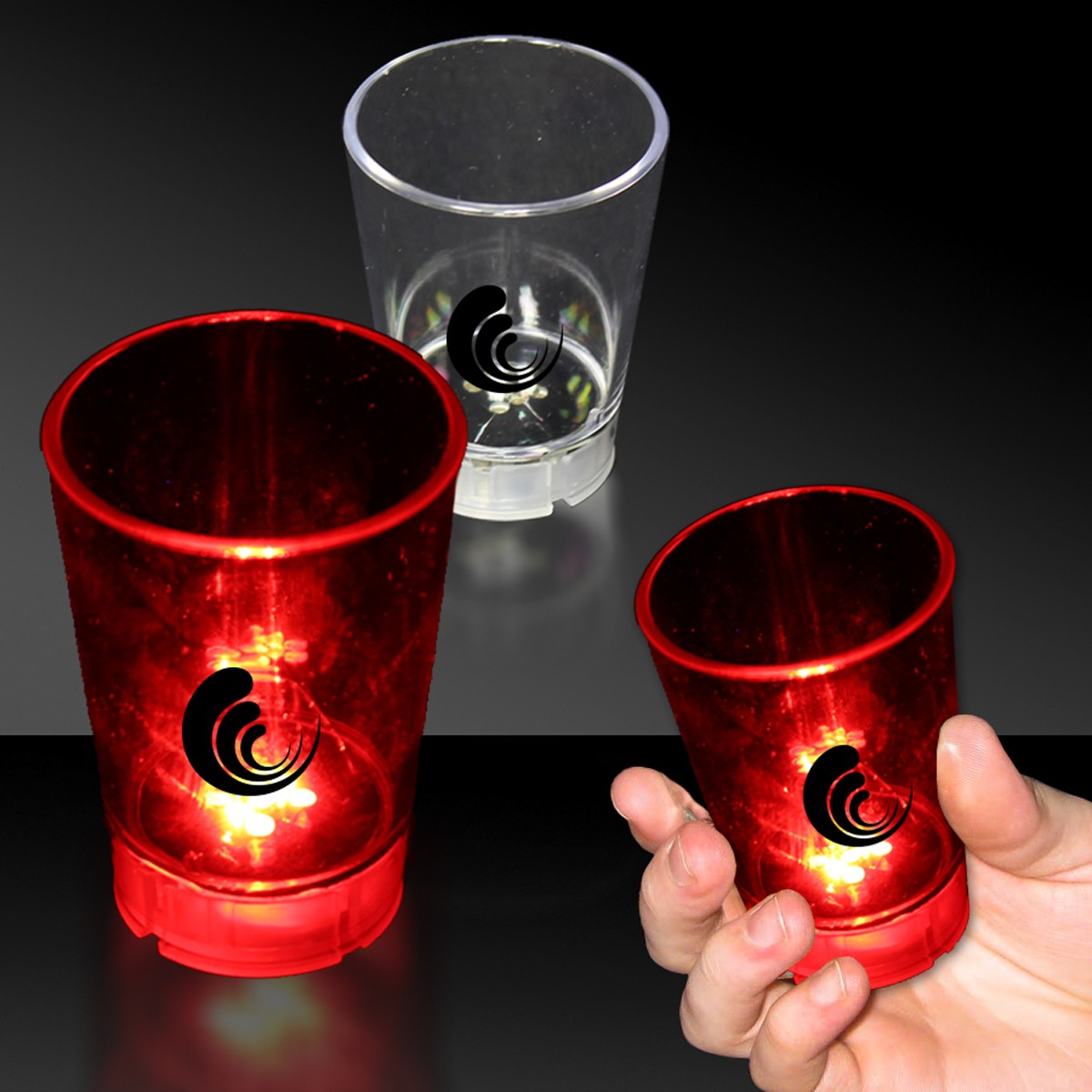 Light Up 2 Ounce Shot Glass with Dice Game
