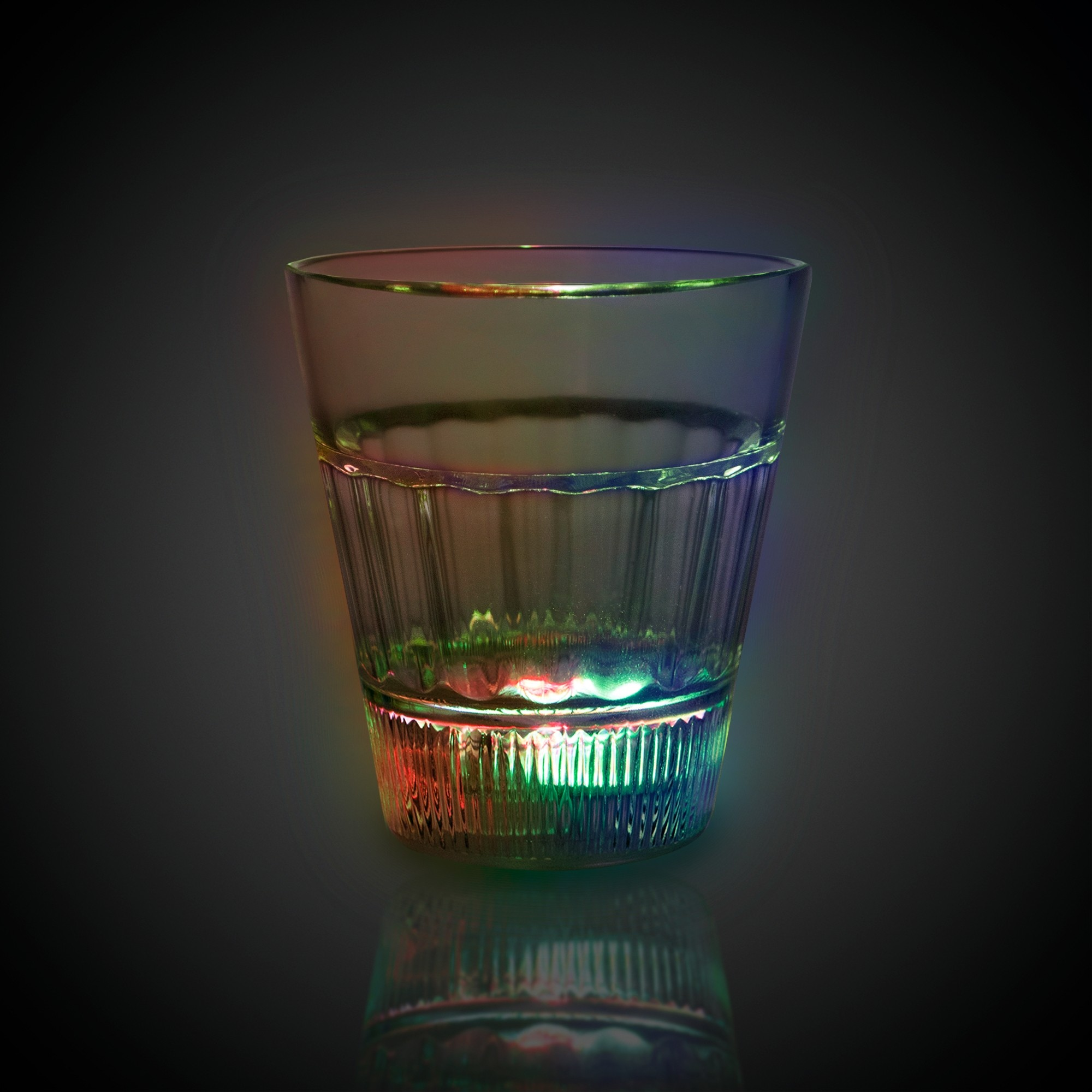 Clear Light Up Shot Glass With Multi Color Leds 2 Ounce