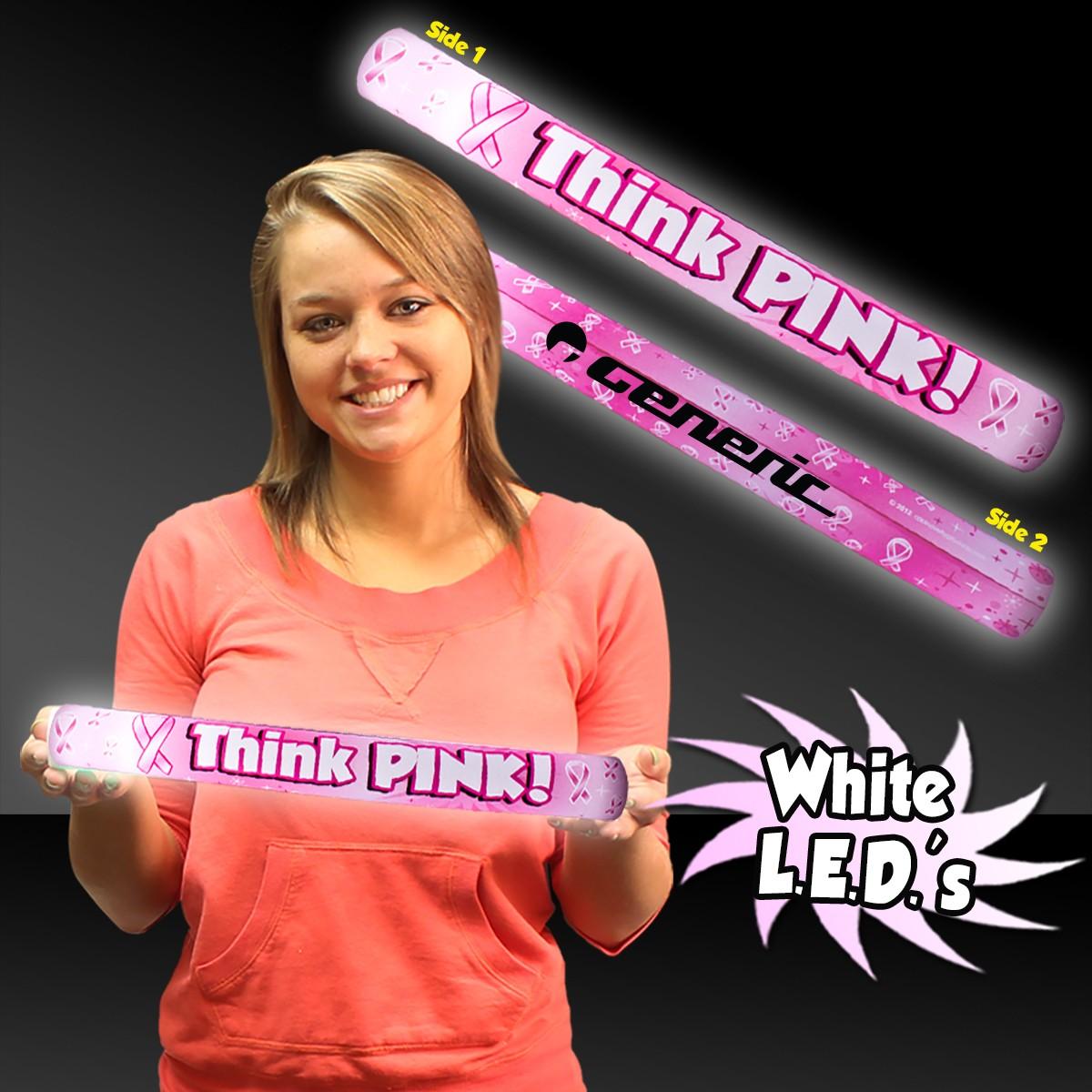 Think Pink LED Lumiton Batons