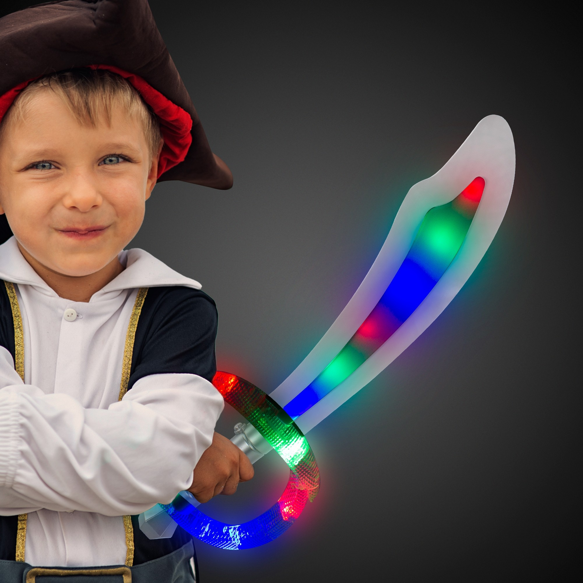 """24"""" Light Up Sound Activated Pirate Sword"""