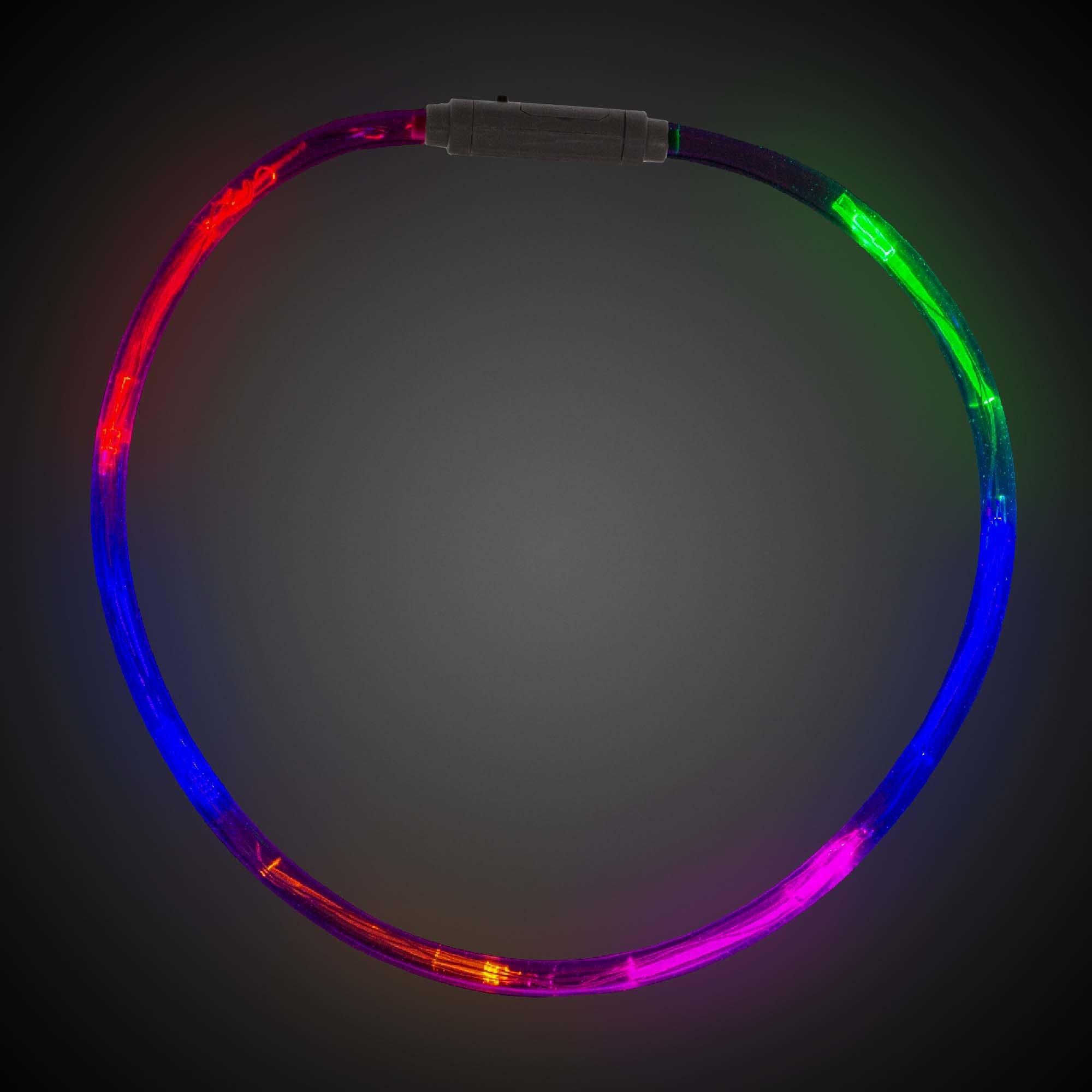 Rainbow Fiber Optic LED Necklaces