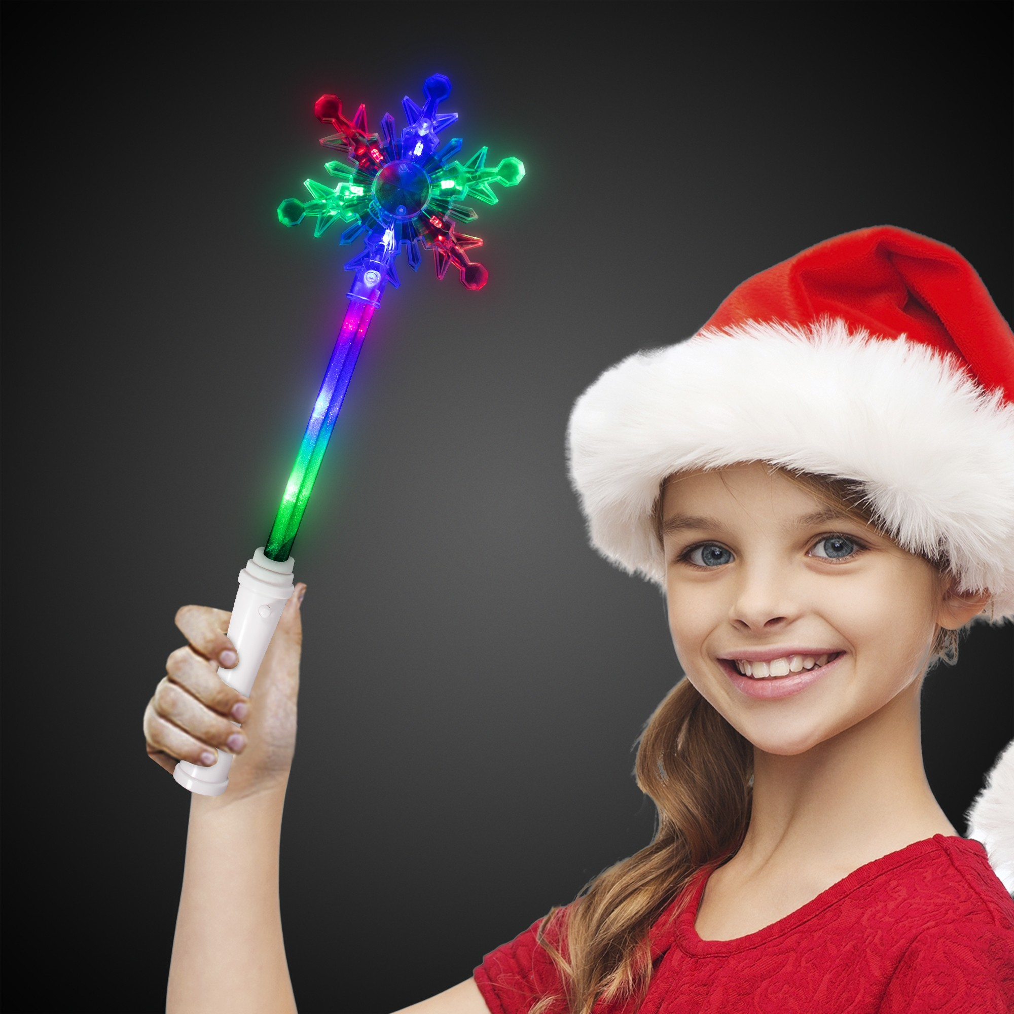 Multi Color Snowflake Wand - 15 Inch