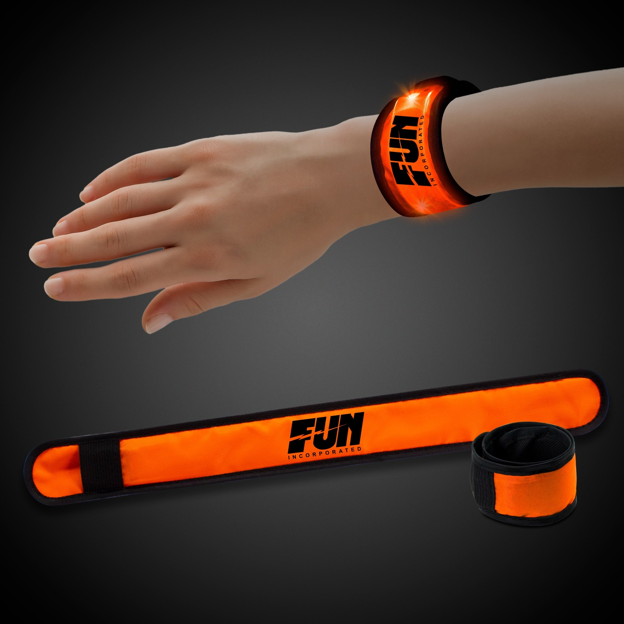 Orange LED Slap Bracelet