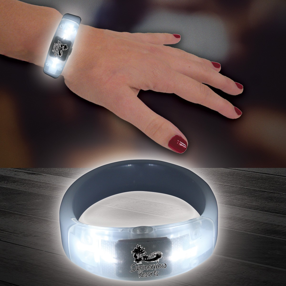 White LED Bangle Bracelet