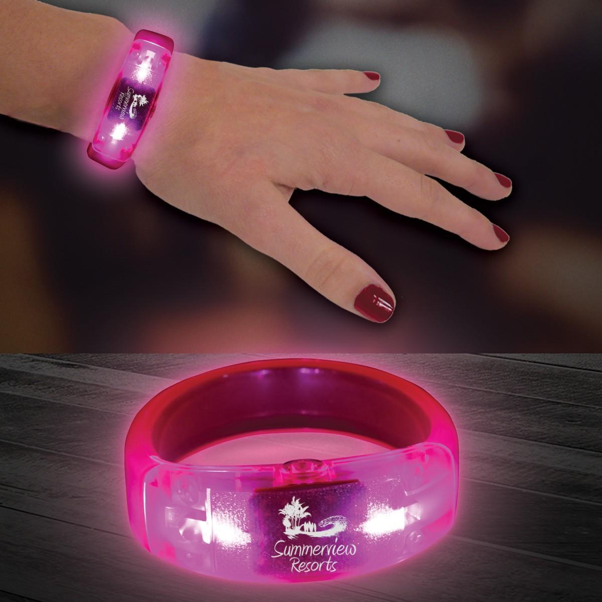 Pink LED Bangle Bracelet