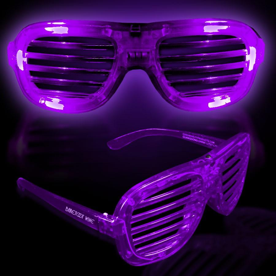 Purple LED Slotted Glasses