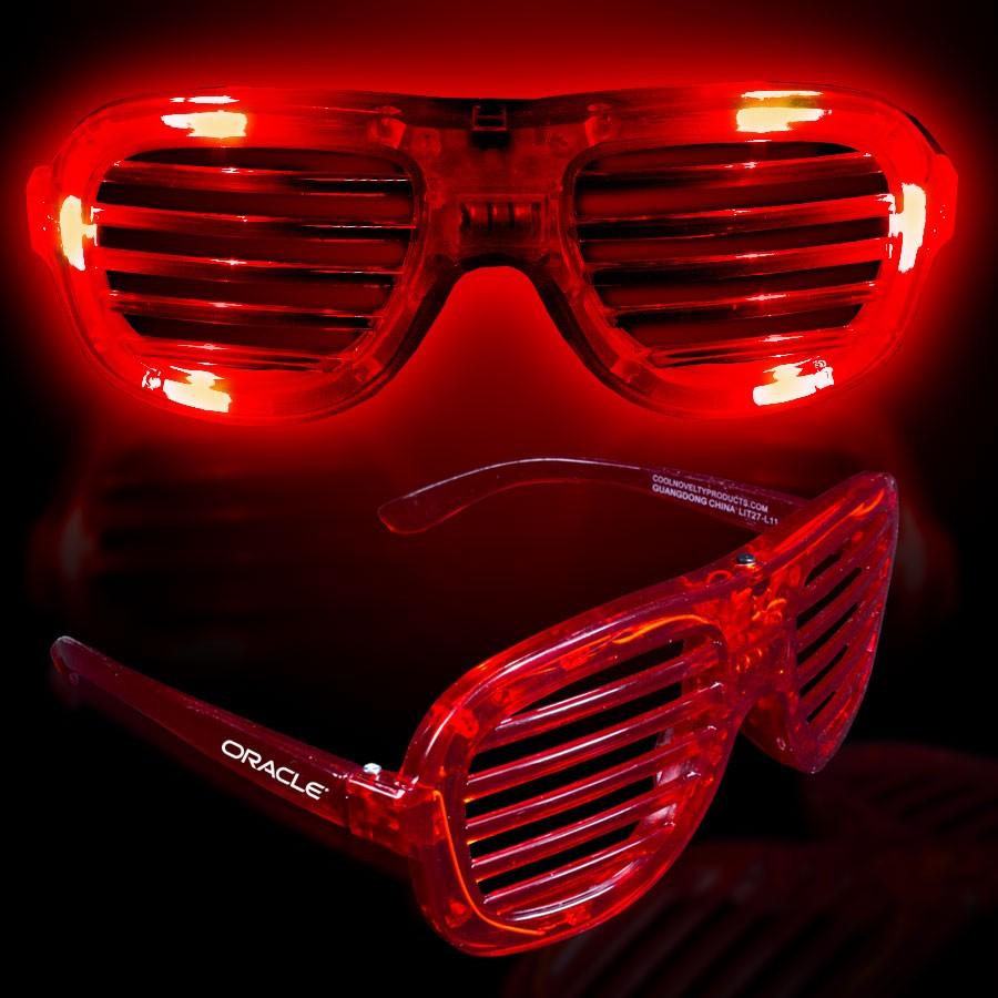 Red LED Slotted Glasses