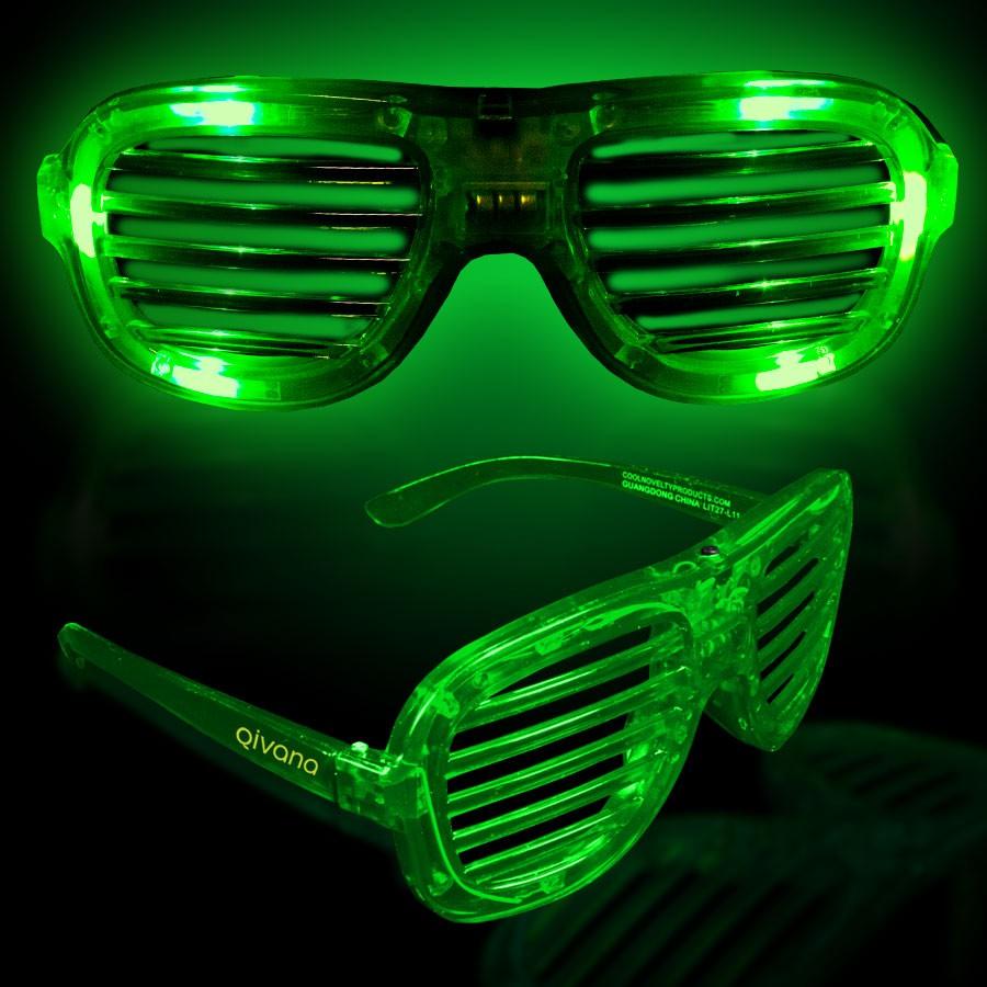 Green LED Slotted Glasses