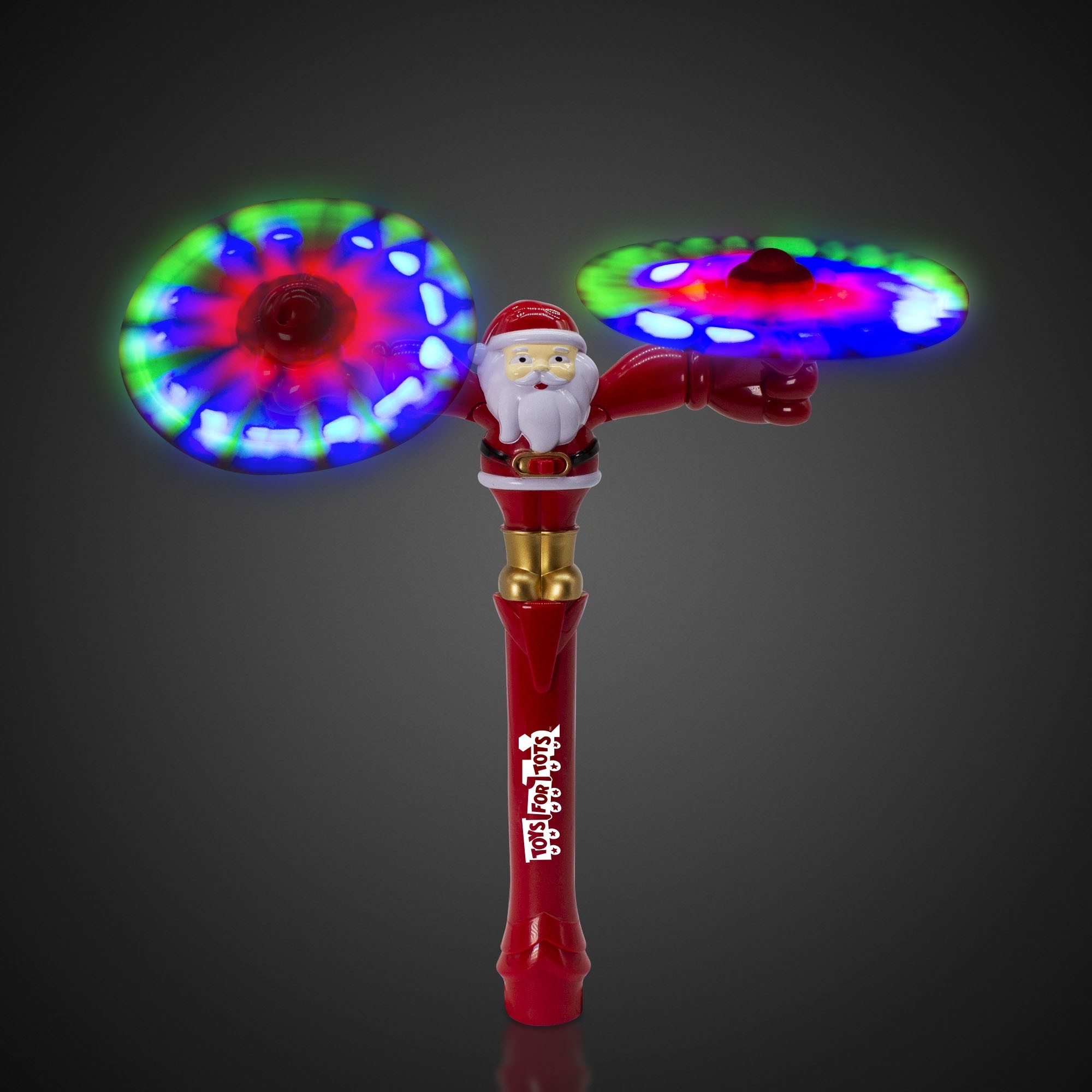 LED Santa Swivel Arms Spinner Wand